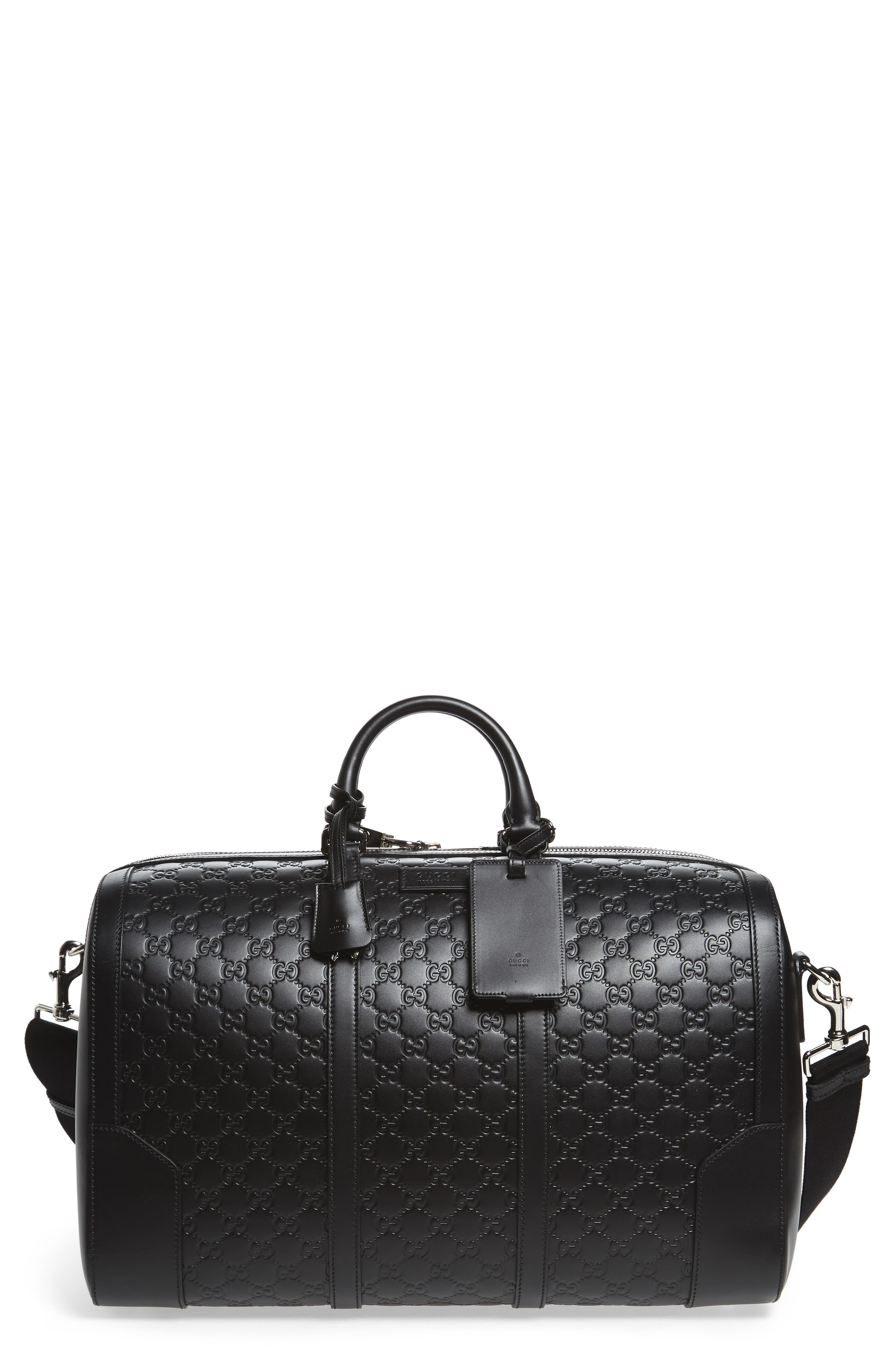 Gucci GG Leather Travel Duffel