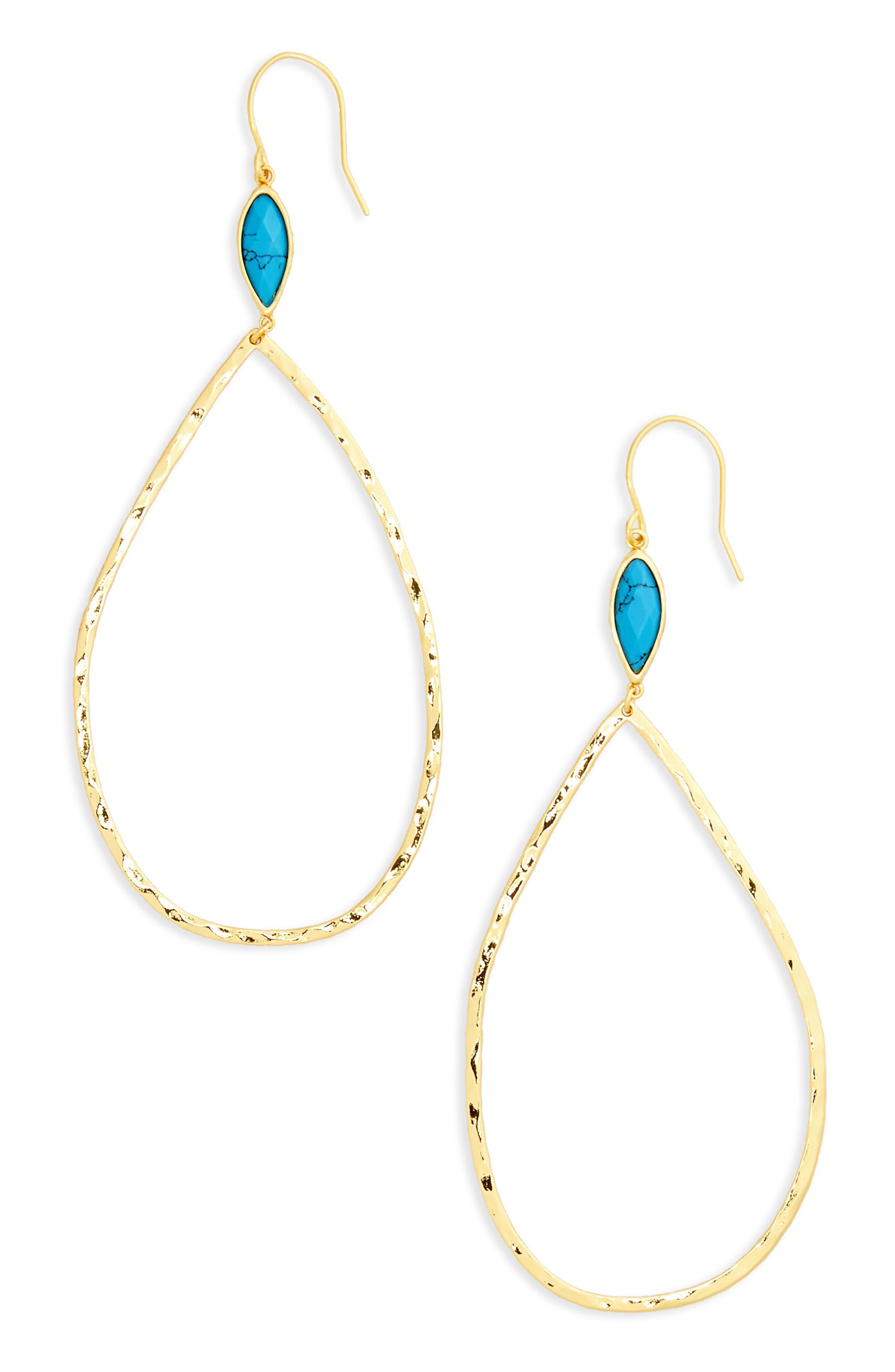 Main Image - gorjana Lola Semiprecious Stone Drop Earrings