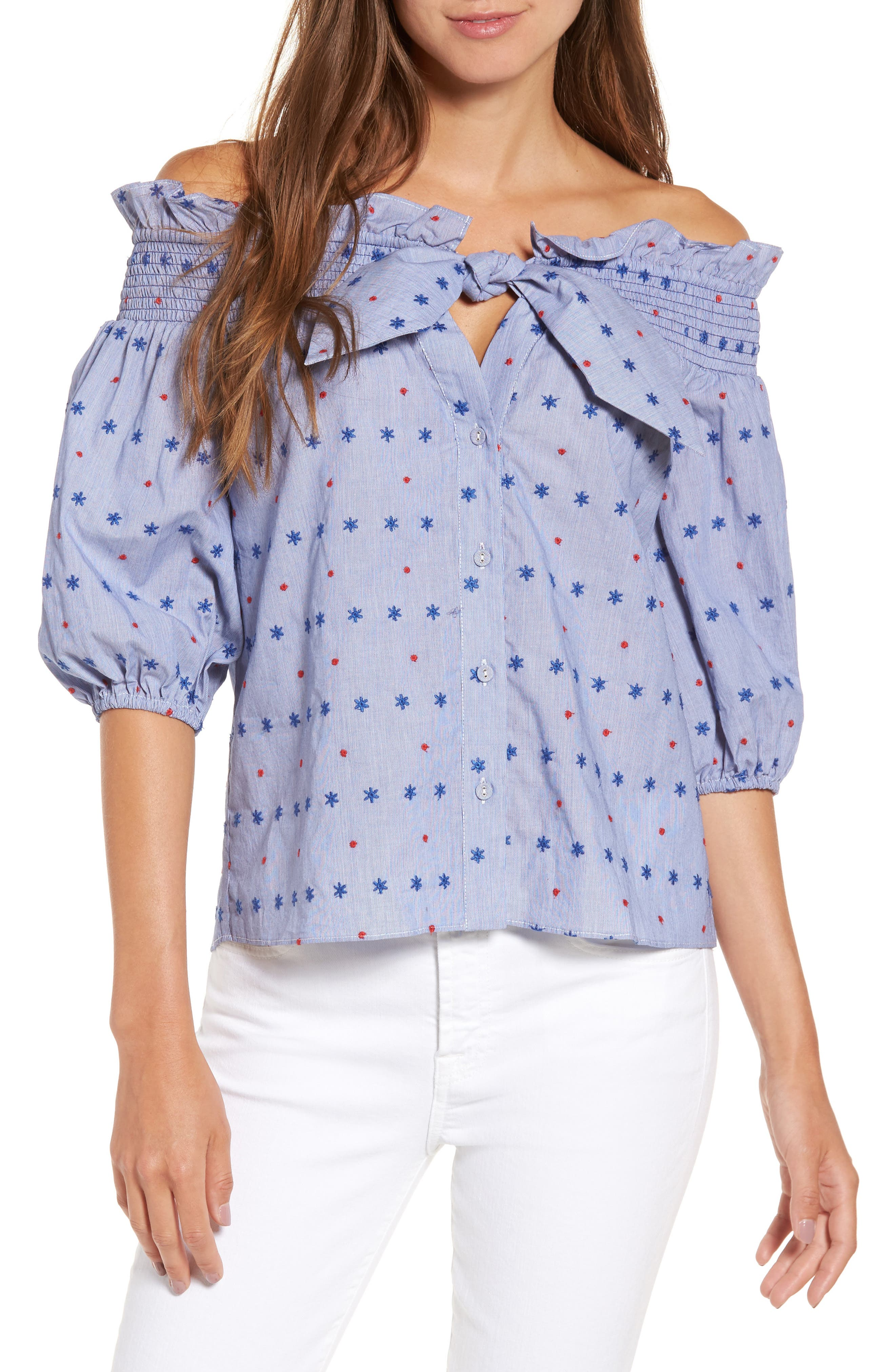 Parker Spade Off the Shoulder Blouse