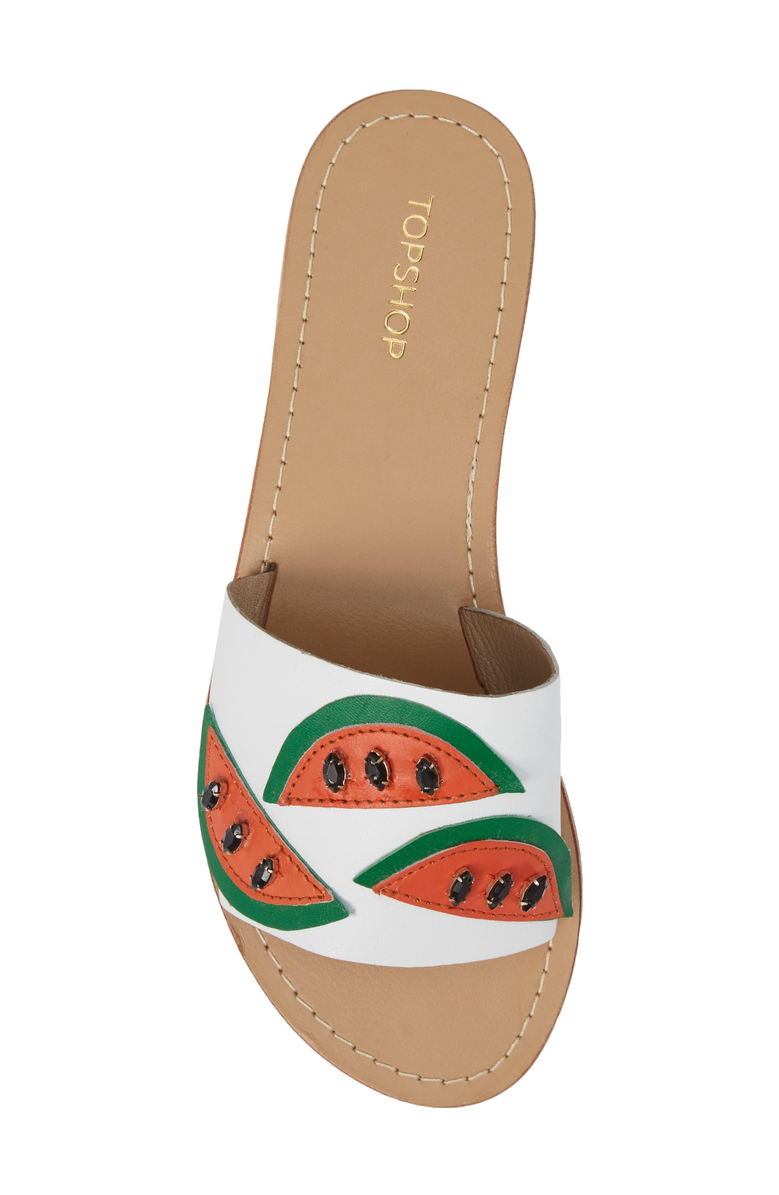 Alternate Image 5  - Topshop Happy Fruity Slide Sandal (Women)