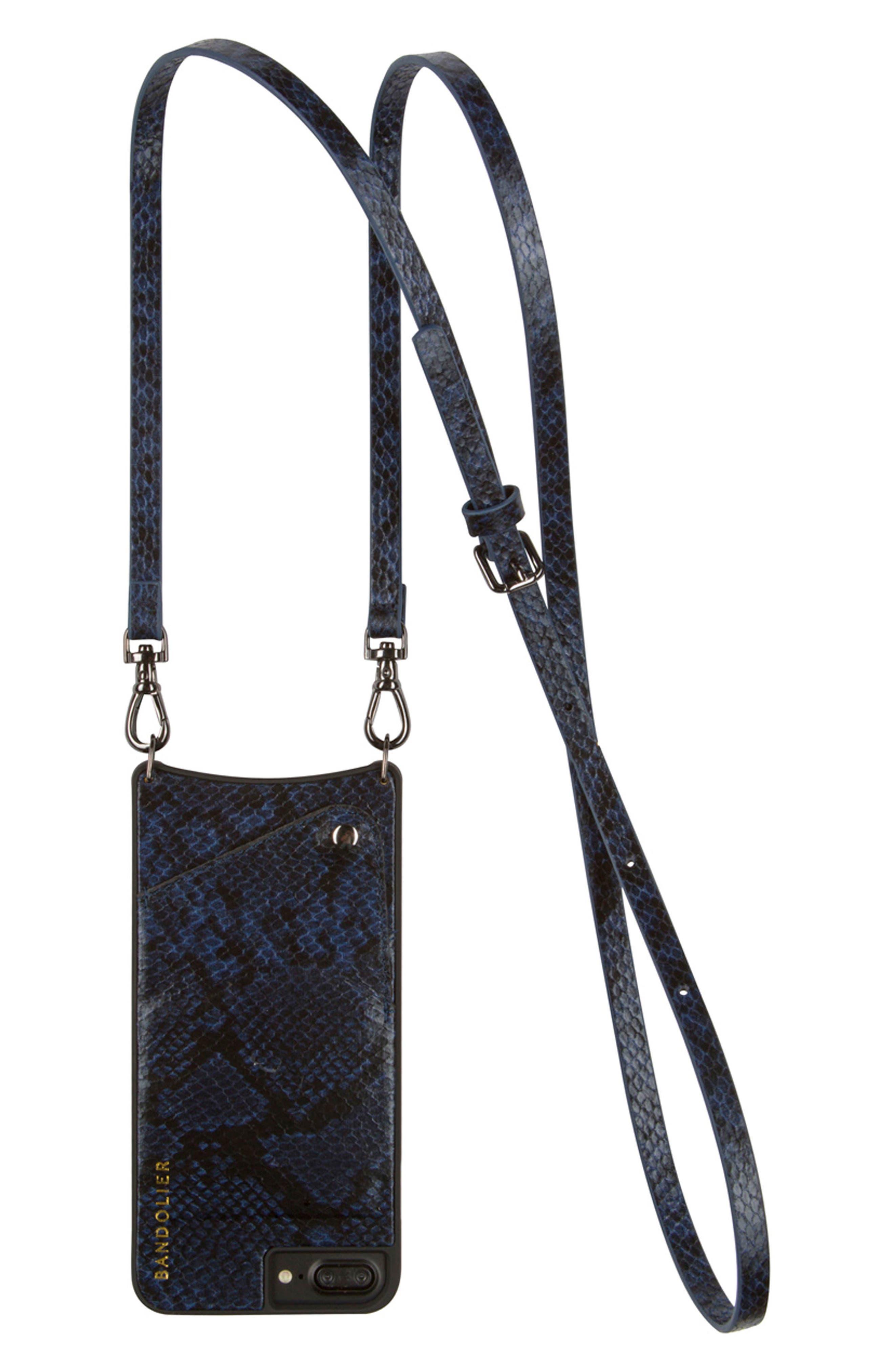 Bandolier Cynthia Snake Embossed Faux Leather iPhone Crossbody Case (6/7 & 6/7 Plus)