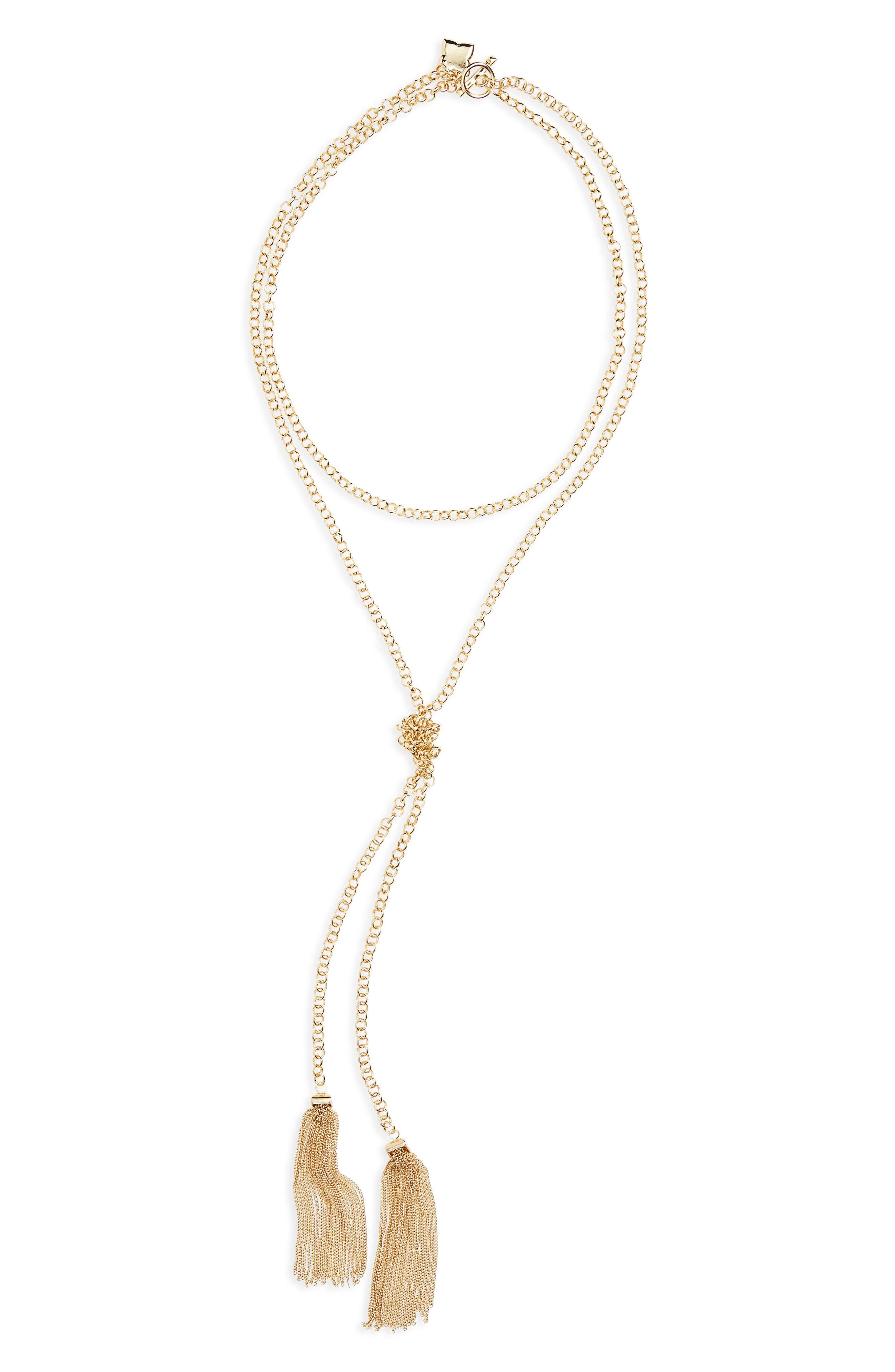 BP. Chain Tassel Necklace