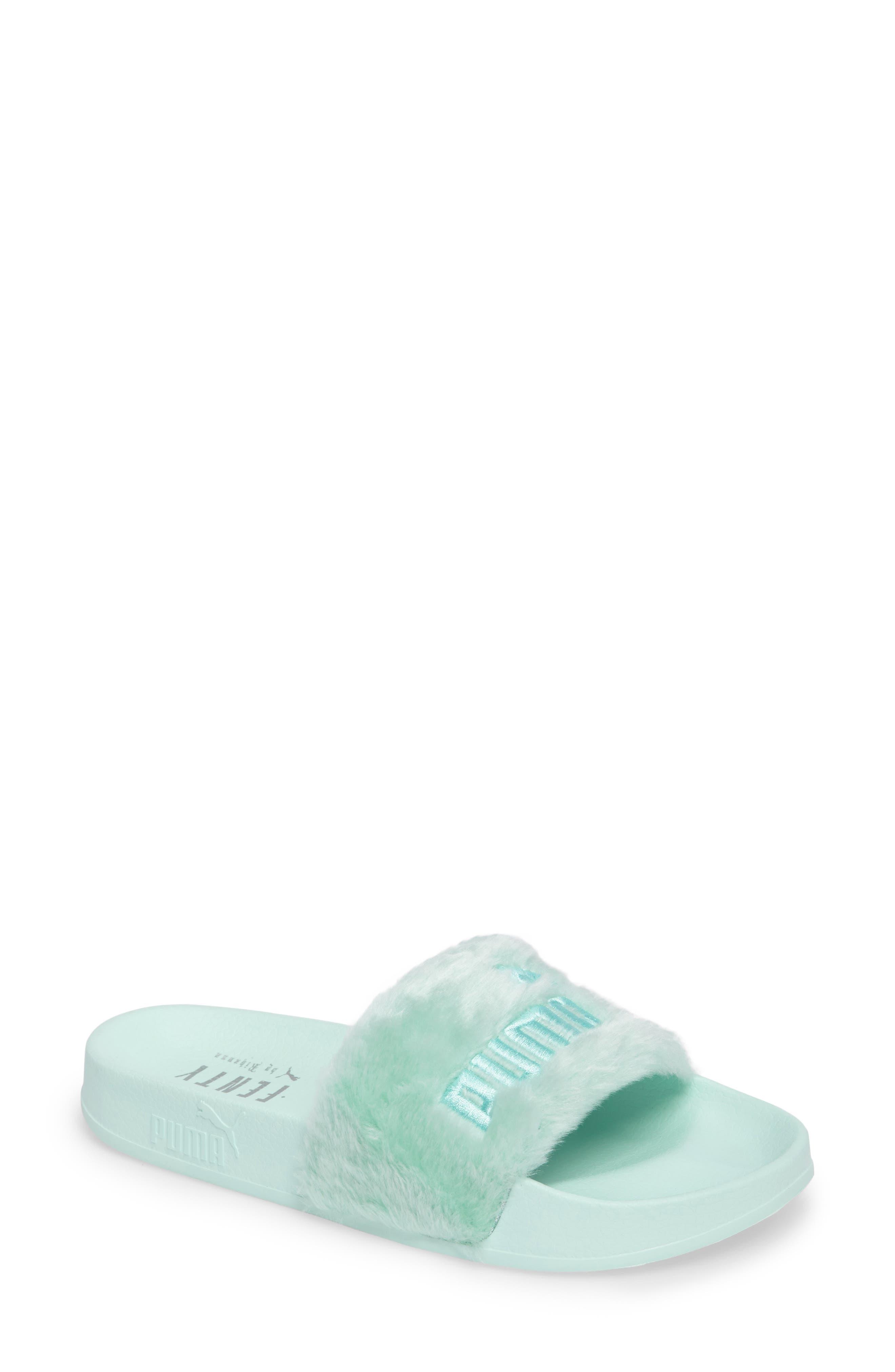 Main Image - FENTY PUMA by Rihanna 'Leadcat Fenty' Faux Fur Slide Sandal (Women)