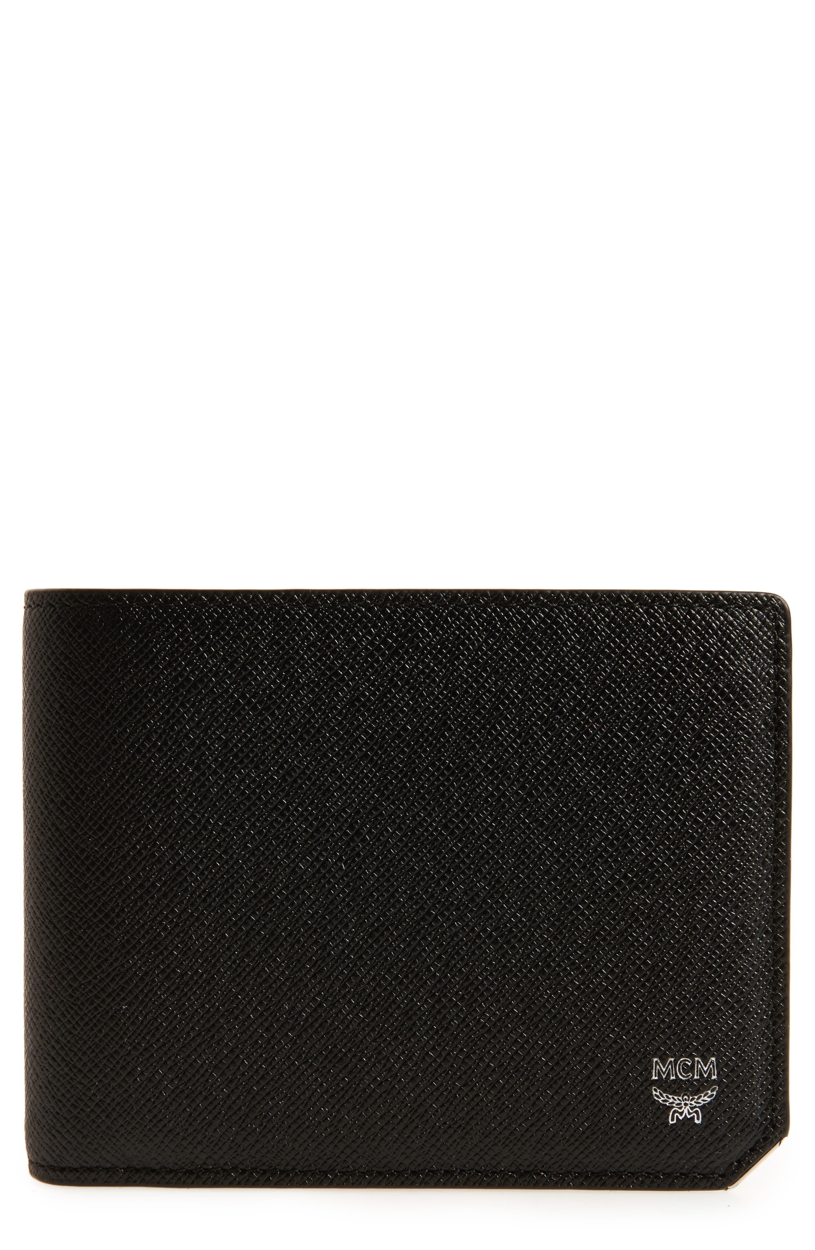 MCM New Bric Leather Billfold Wallet