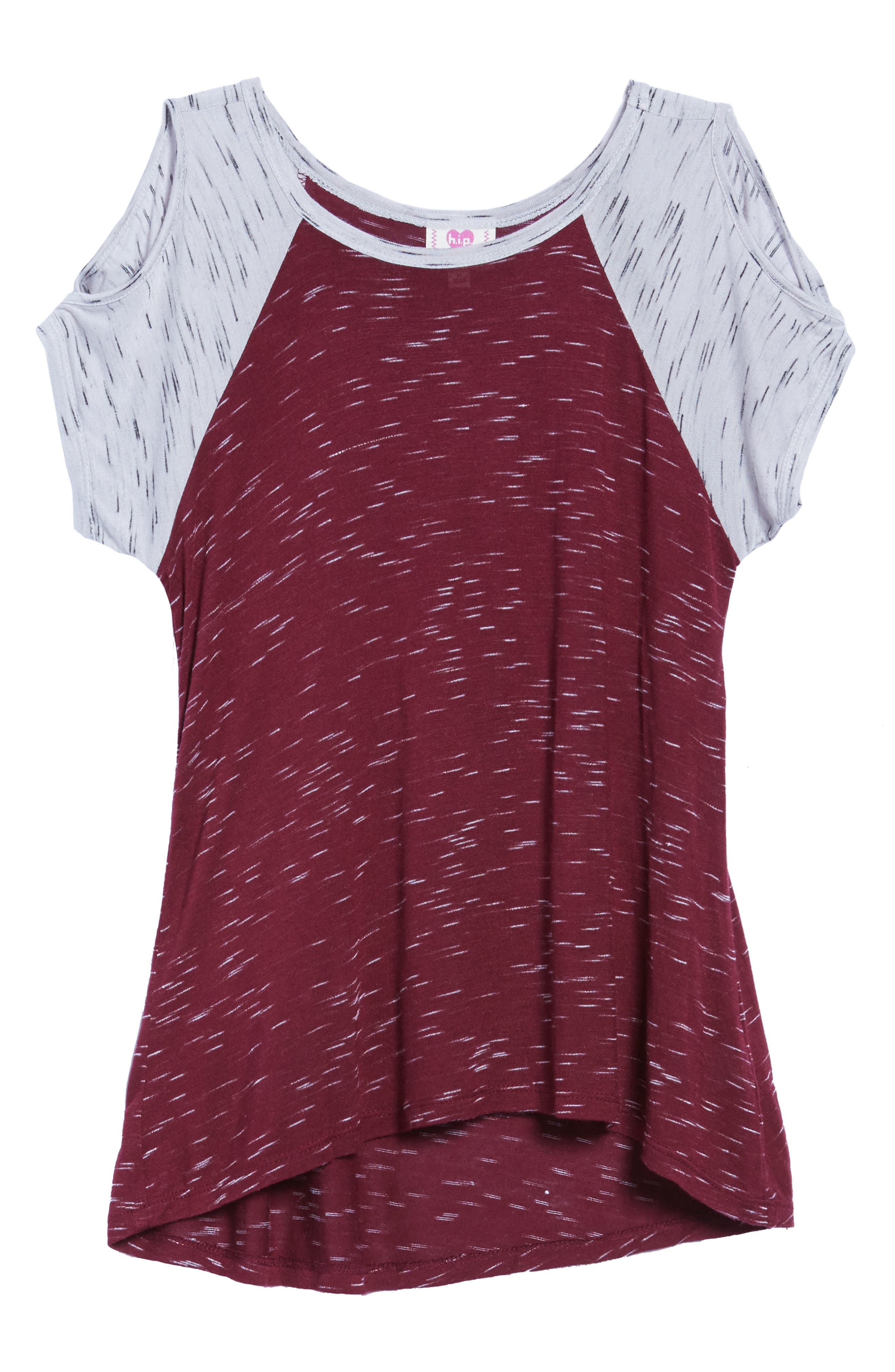h.i.p. Cold Shoulder Raglan Tee (Big Girls)