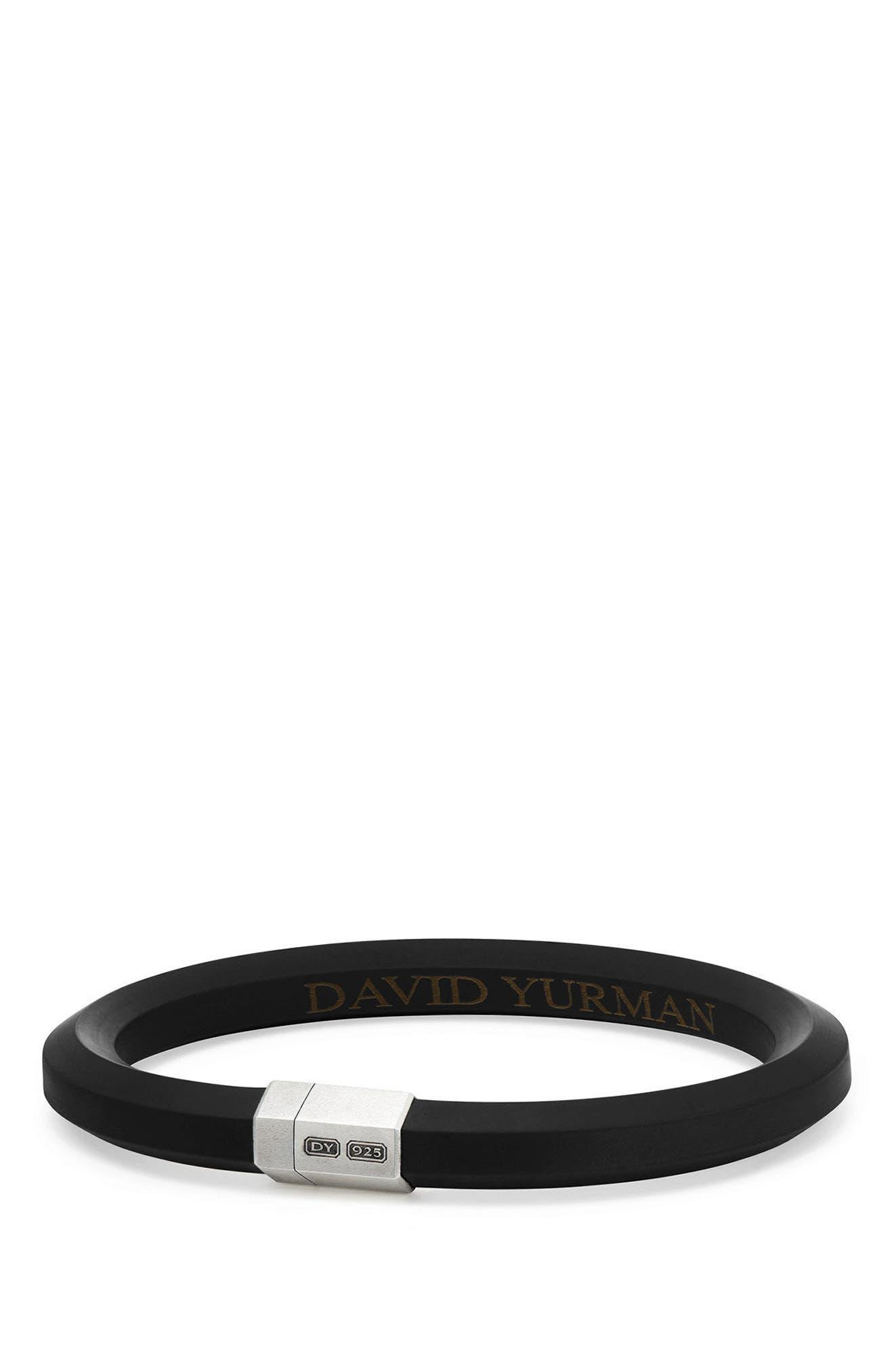 David Yurman Streamline Rubber ID Bracelet in Black