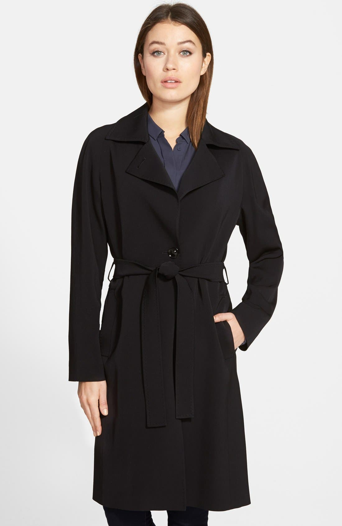 Alternate Image 1 Selected - Cinzia Rocca Wool Wrap Trench Coat