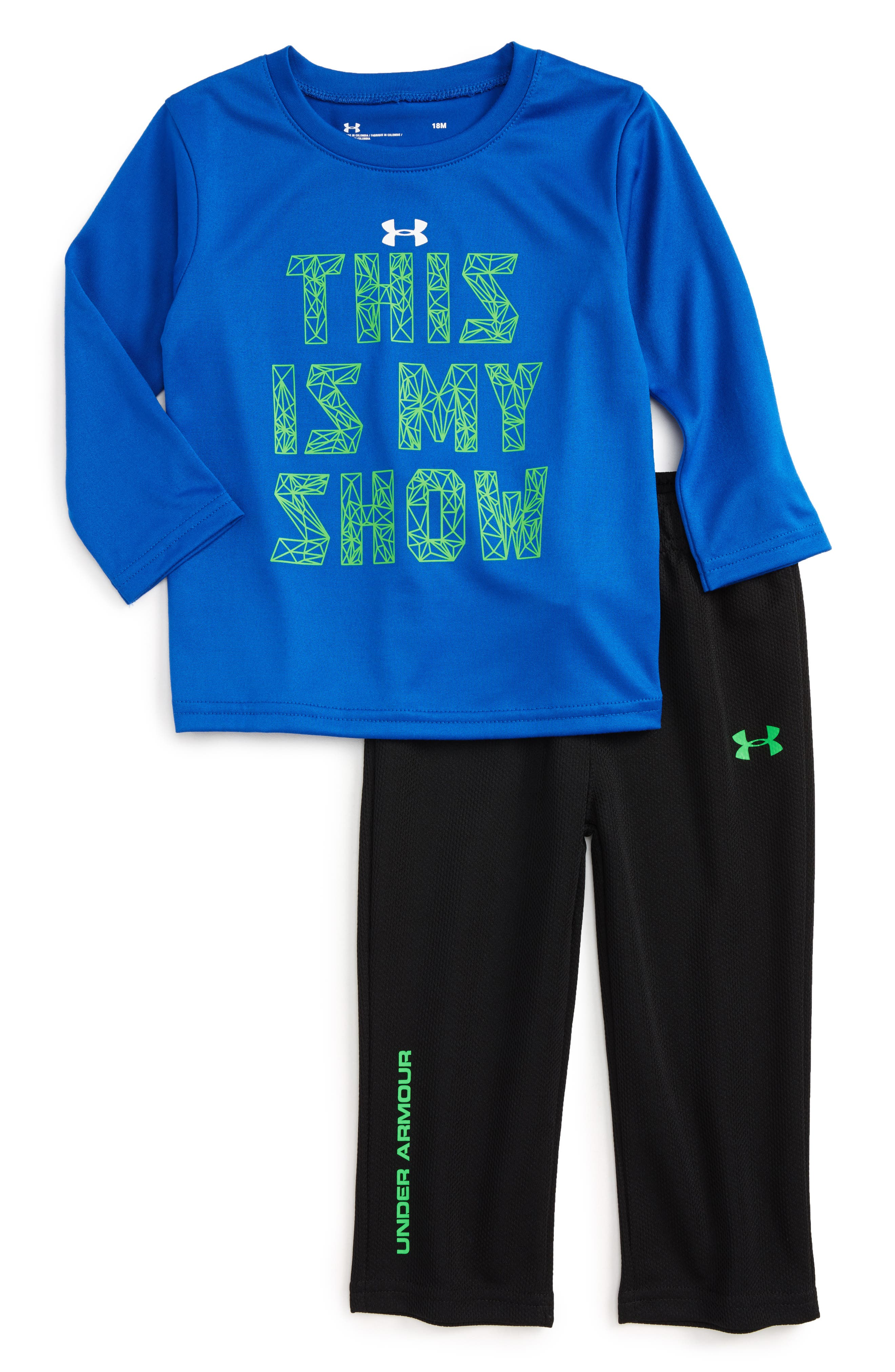 Under Armour This is My Show T-Shirt & Mesh Pants Set (Baby Boys)