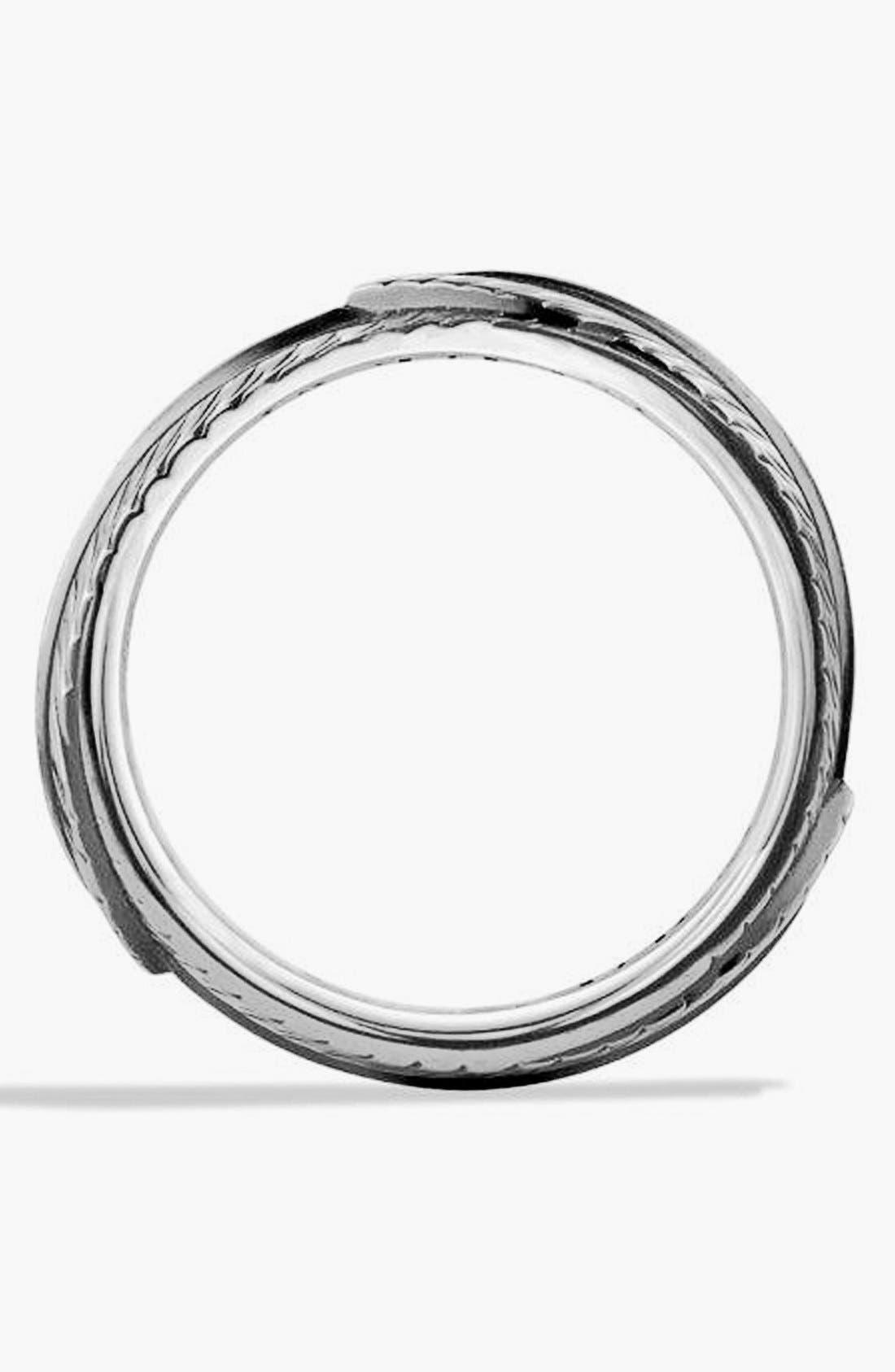 Alternate Image 2  - David Yurman 'Frontier' Band Ring with Black Diamonds