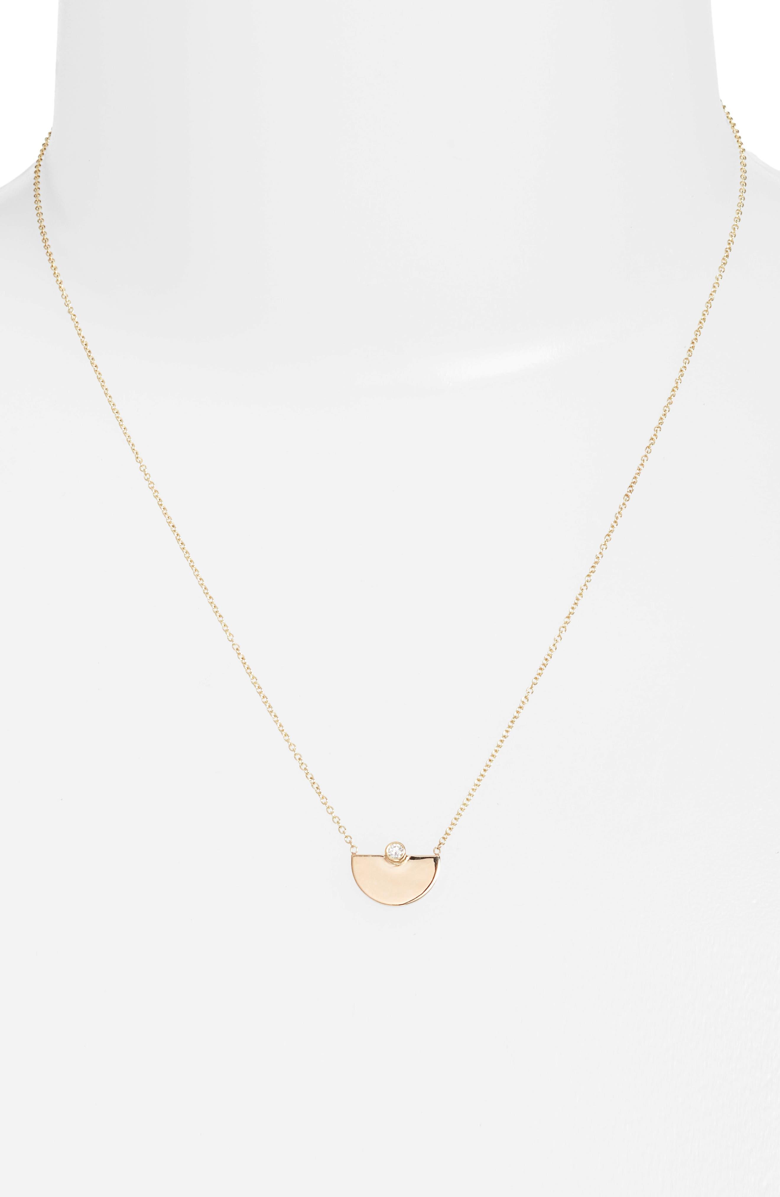 Zoë Chicco Horizon Diamond Pendant Necklace