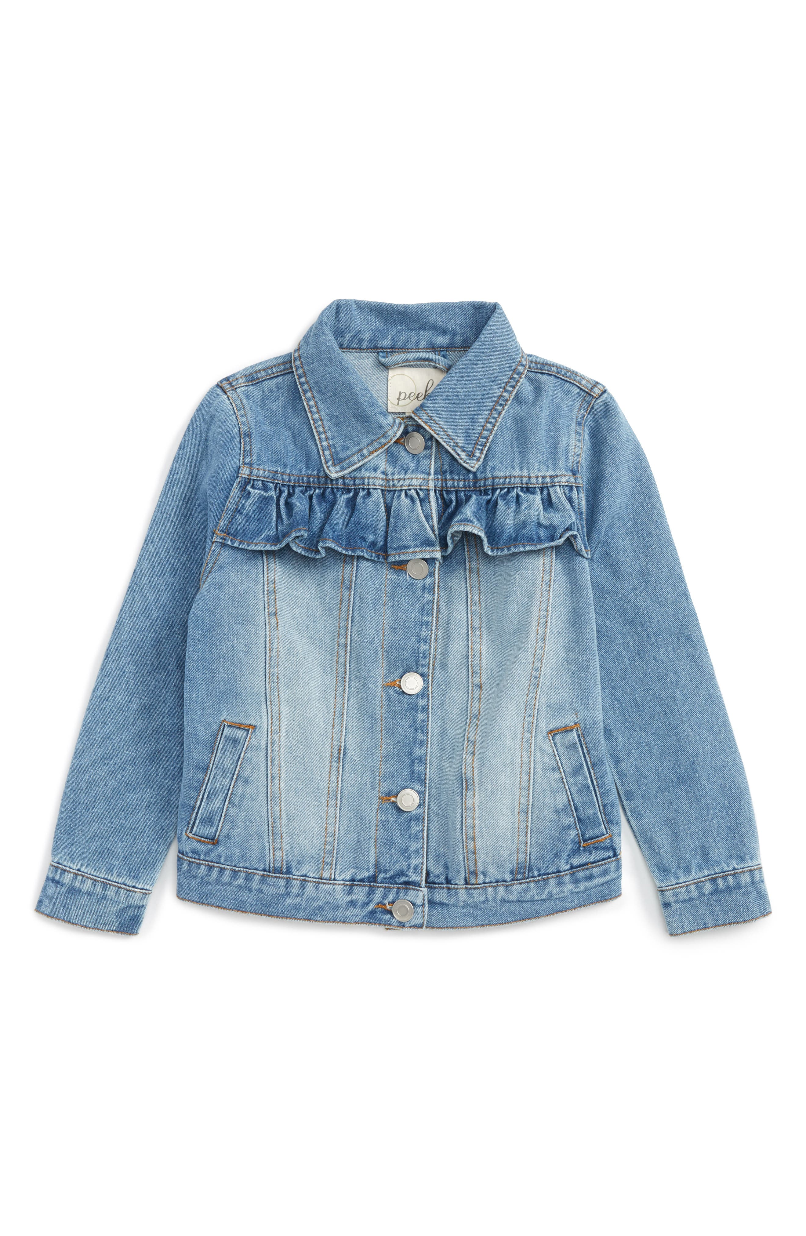 Peek Whitney Ruffle Denim Jacket (Toddler Girls, Little Girls & Big Girls)