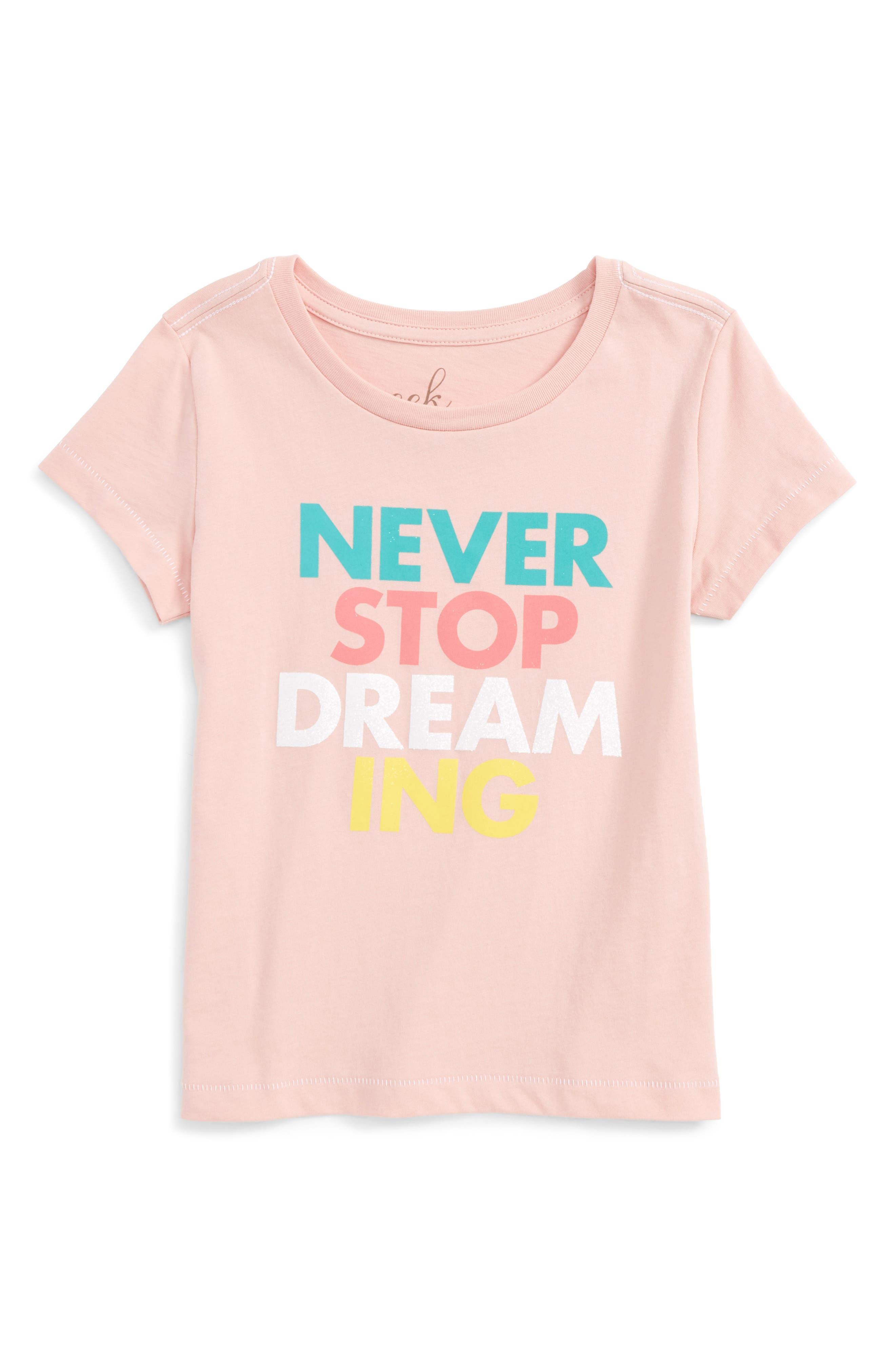 Peek Never Stop Dreaming Tee (Toddler Girls, Little Girls & Big Girls)