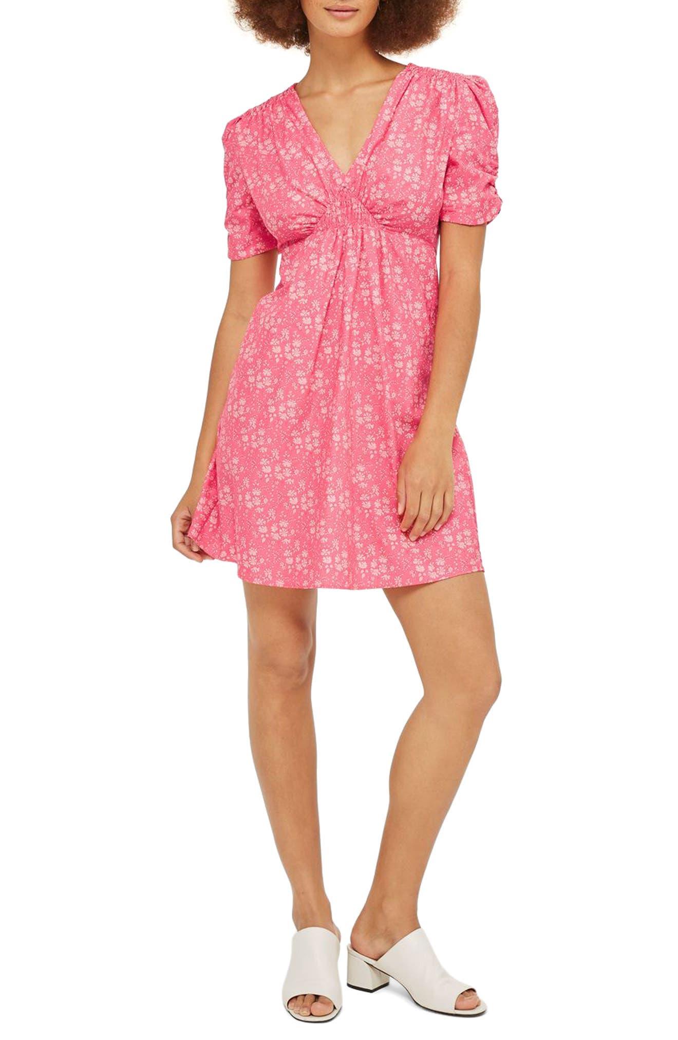 Topshop Liberty Print Skater Tea Dress