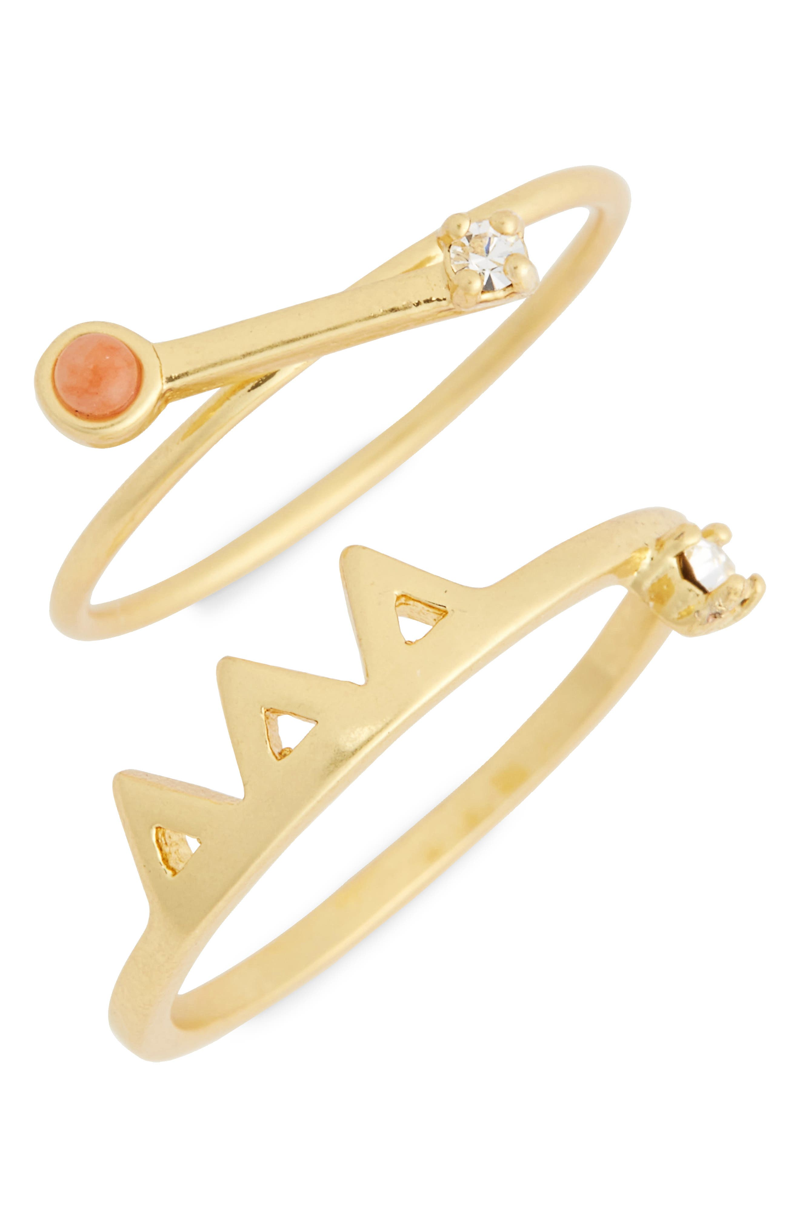 Madewell Pink Jade Ring Set