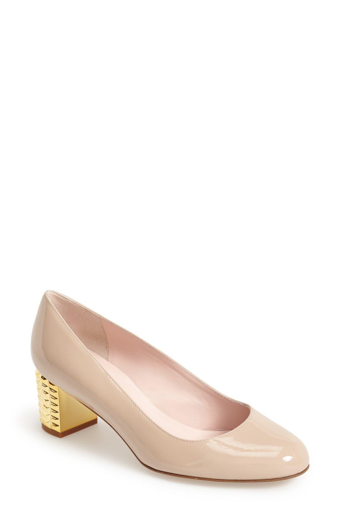Main Image - kate spade new york 'mahina' round toe leather pump (Women)