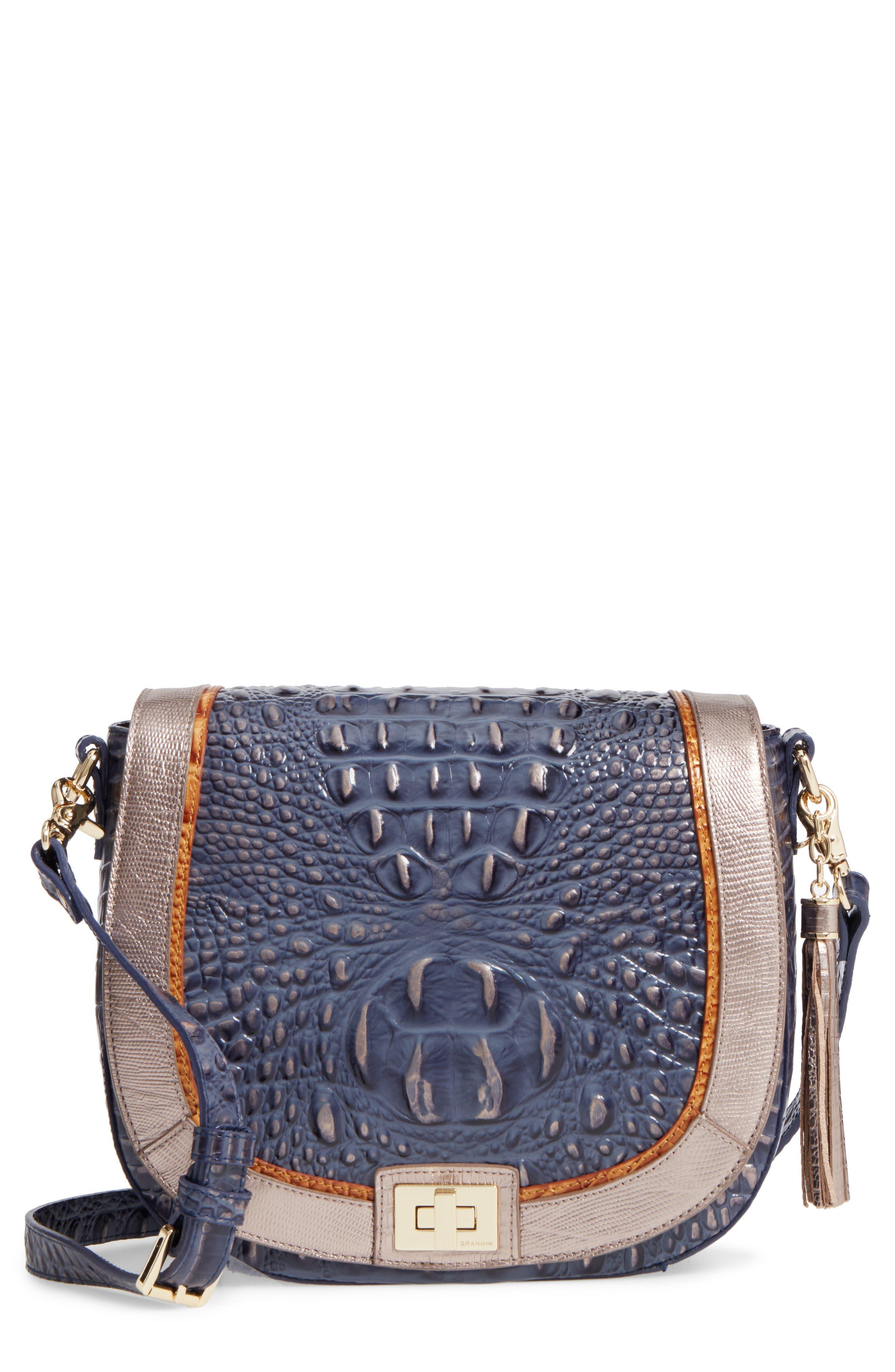 Brahmin Andesite Lucca Sonny Leather Crossbody Bag