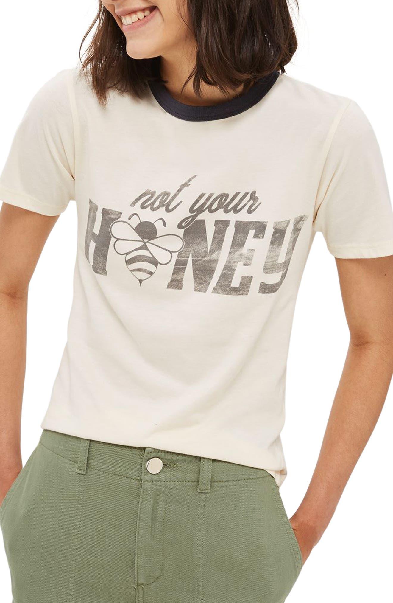 Topshop Not Your Honey Ringer Tee