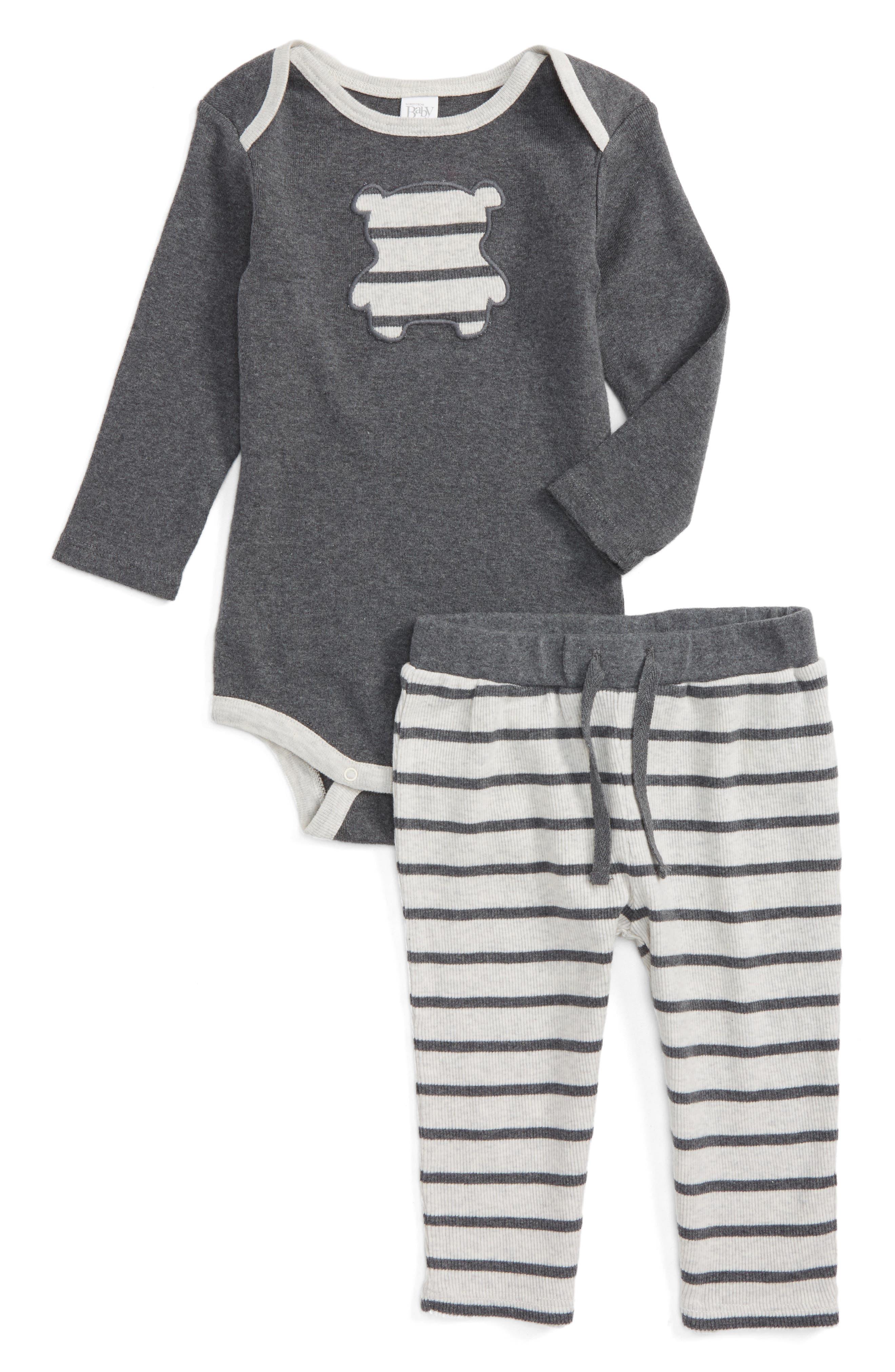 Nordstrom Baby Teddy Appliqué Bodysuit & Pants Set (Baby)