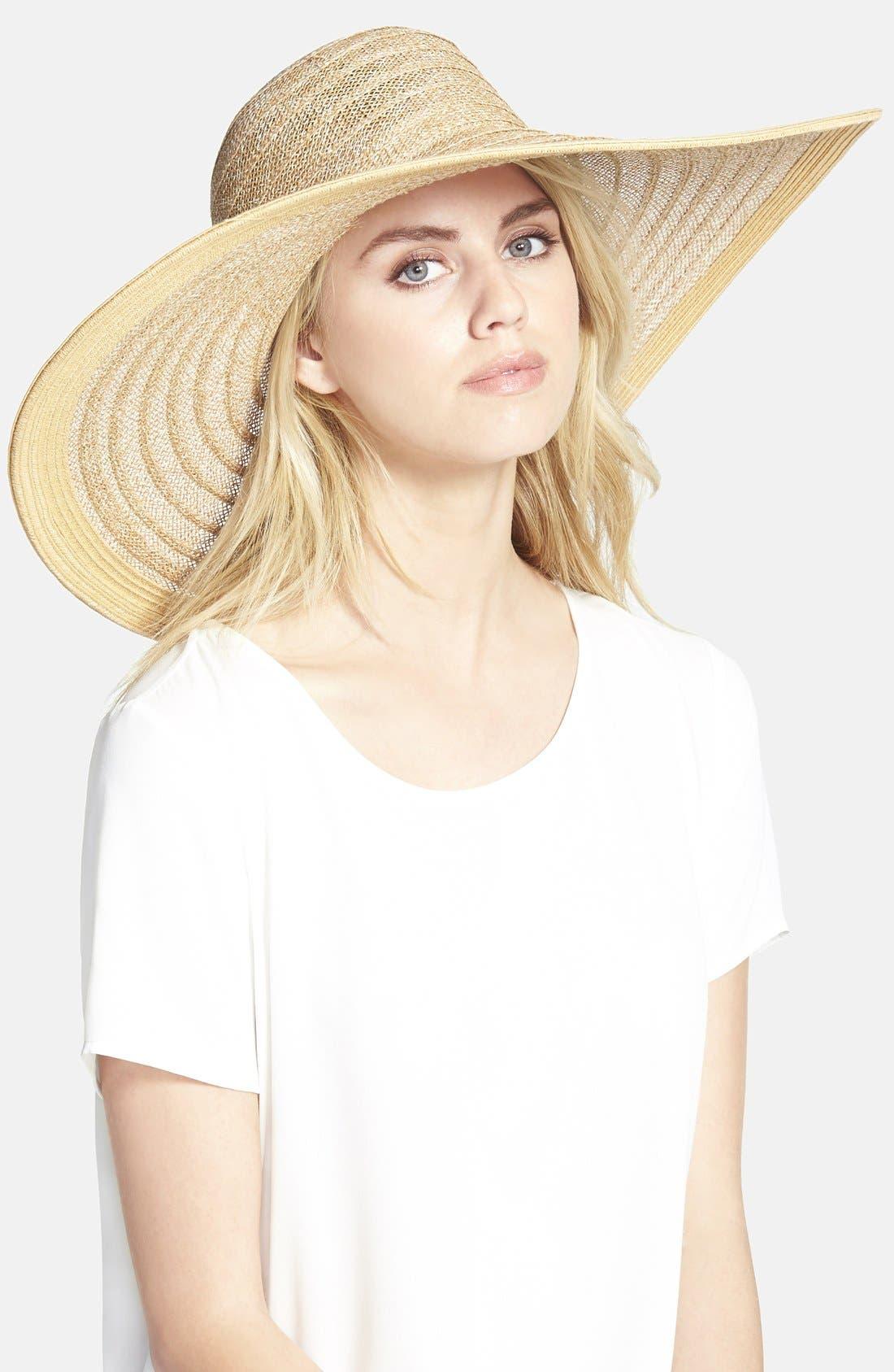Alternate Image 1 Selected - Nordstrom Ribbon Weave Sun Hat