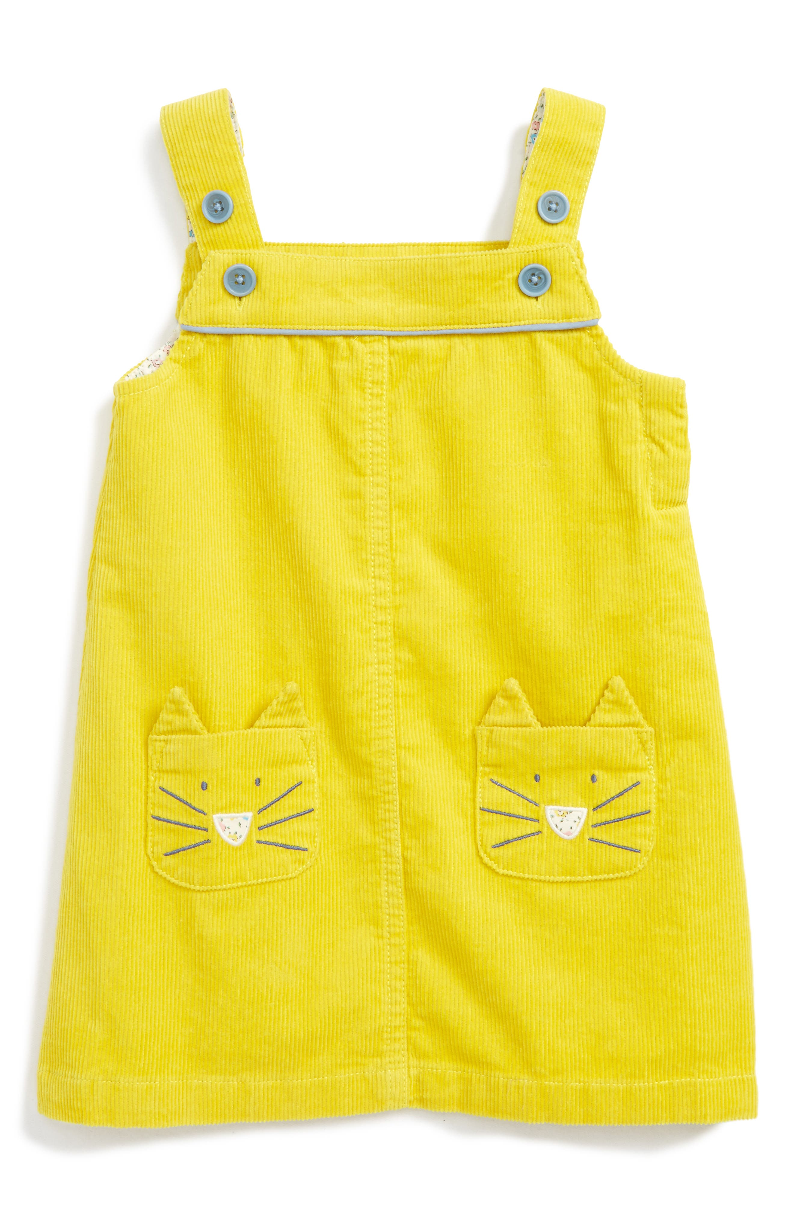 Mini Boden Fun Corduroy Pinafore Dress (Baby Girls & Toddler Girls)