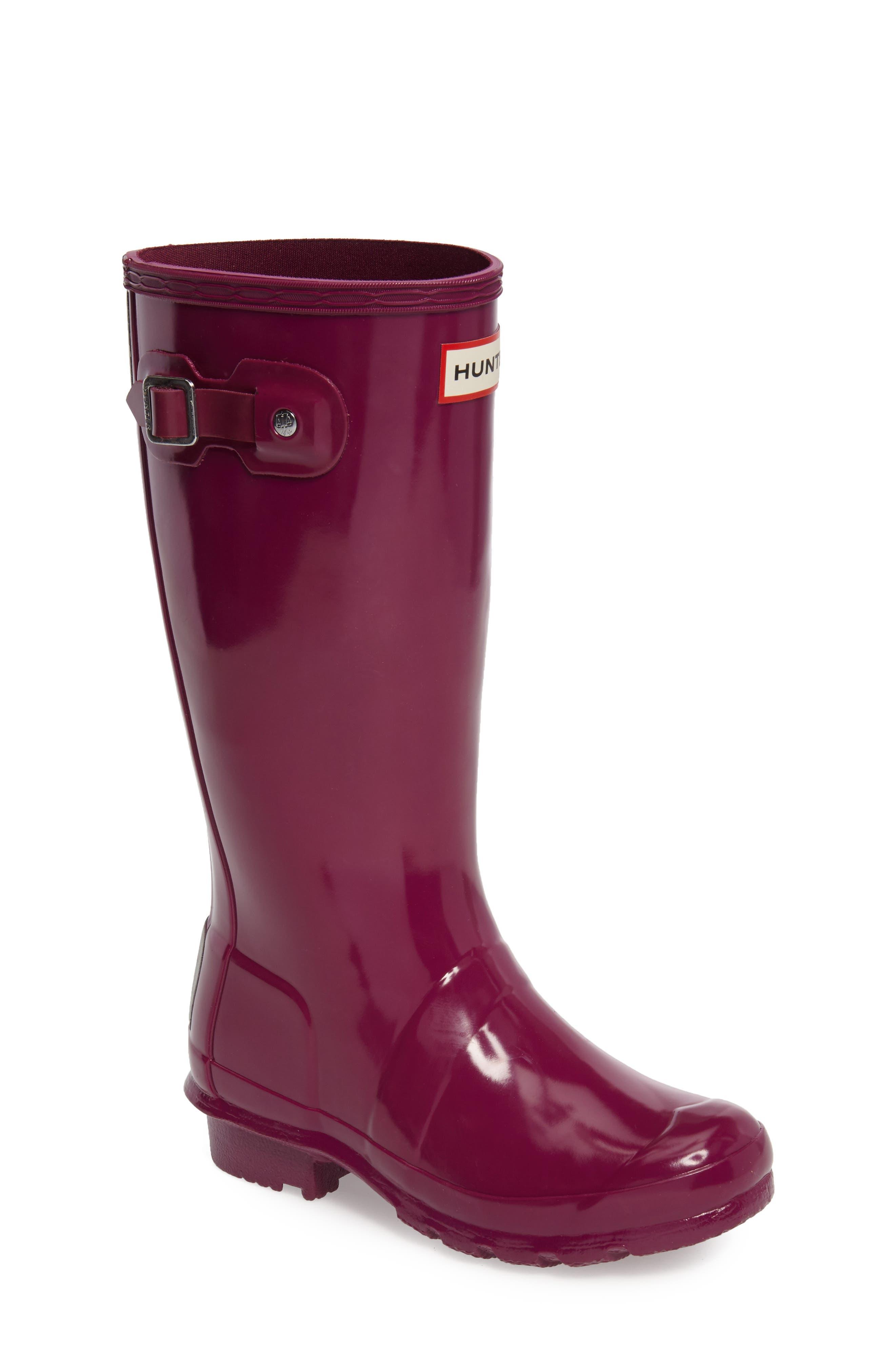 Alternate Image 1 Selected - Hunter 'Original Gloss' Rain Boot (Little Kid & Big Kid)