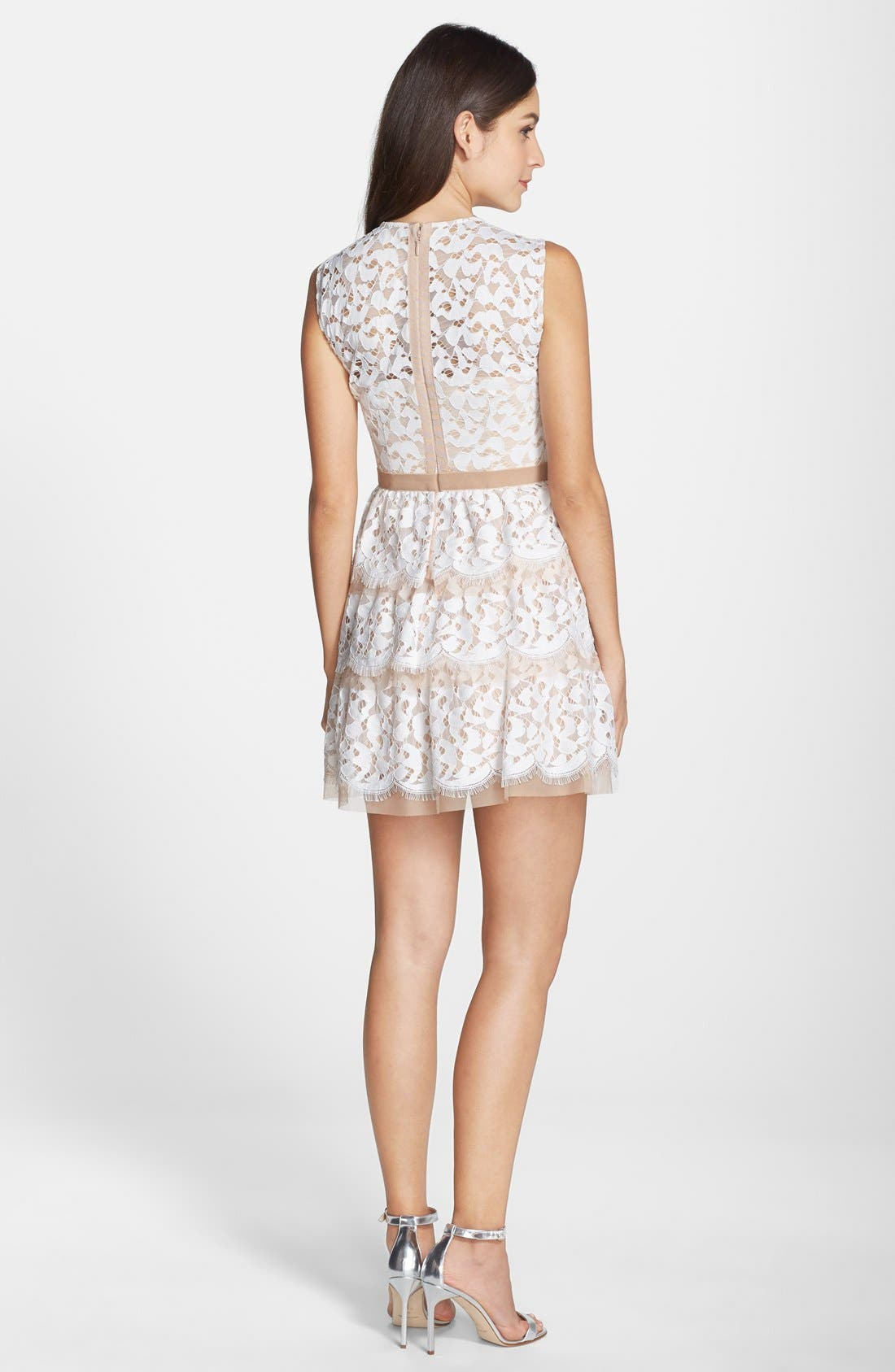 Alternate Image 3  - BCBGMAXAZRIA 'Sophea' Tiered Lace Fit & Flare Dress