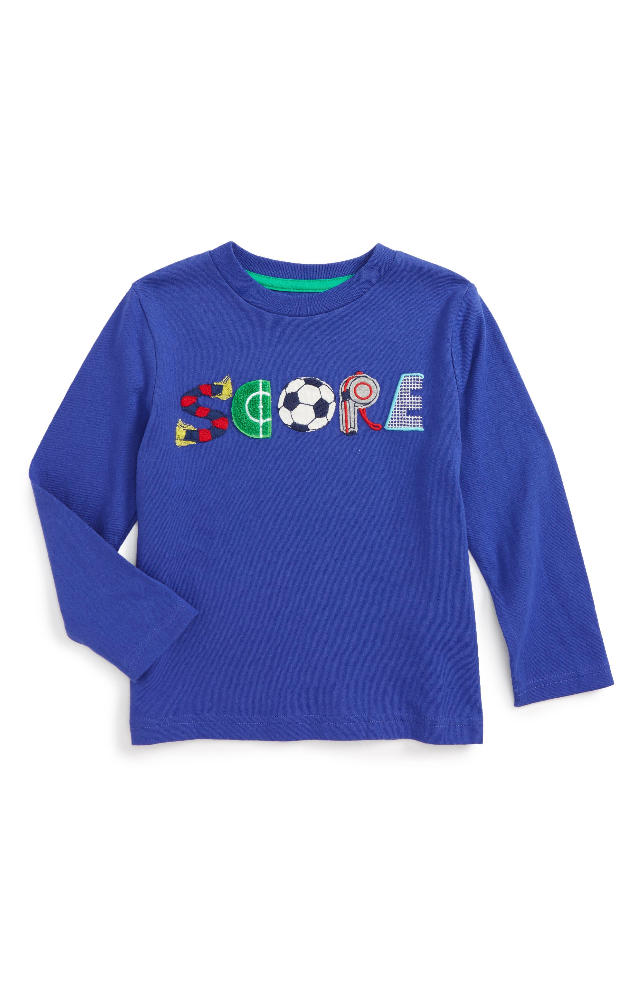 Mini Boden Sporty Appliqué T-Shirt (Toddler Boys, Little Boys & Big Boys)