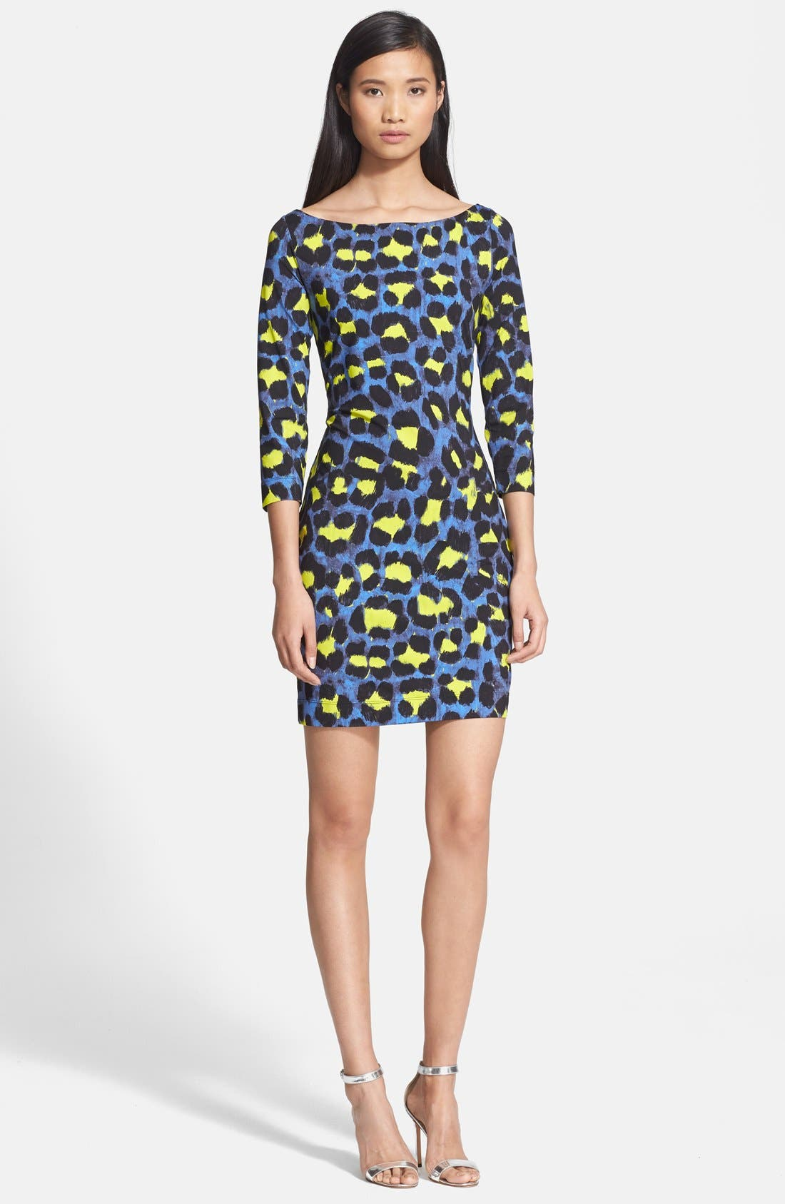 Alternate Image 1 Selected - Just Cavalli Leopard Print Jersey Dress