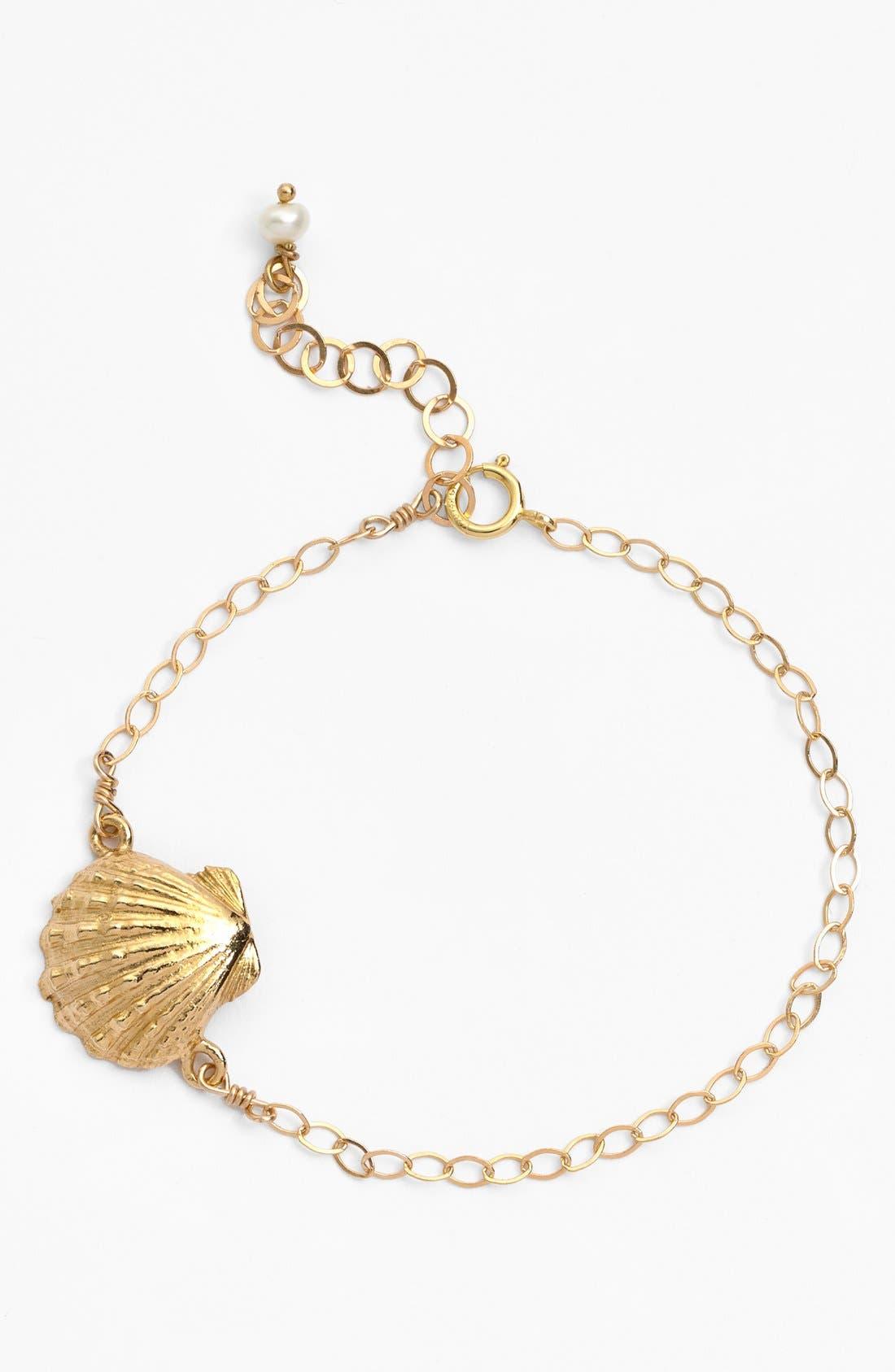 Main Image - ki-ele 'Golden Sunrise' Shell Charm Bracelet