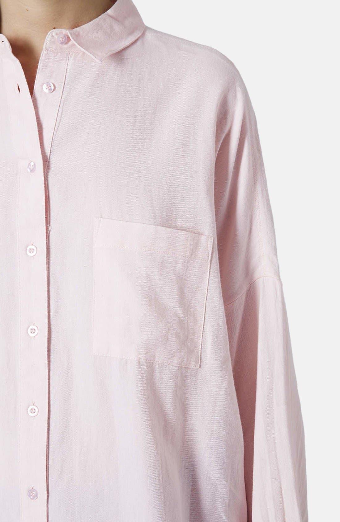 Alternate Image 4  - Topshop Oversized Chambray Shirt