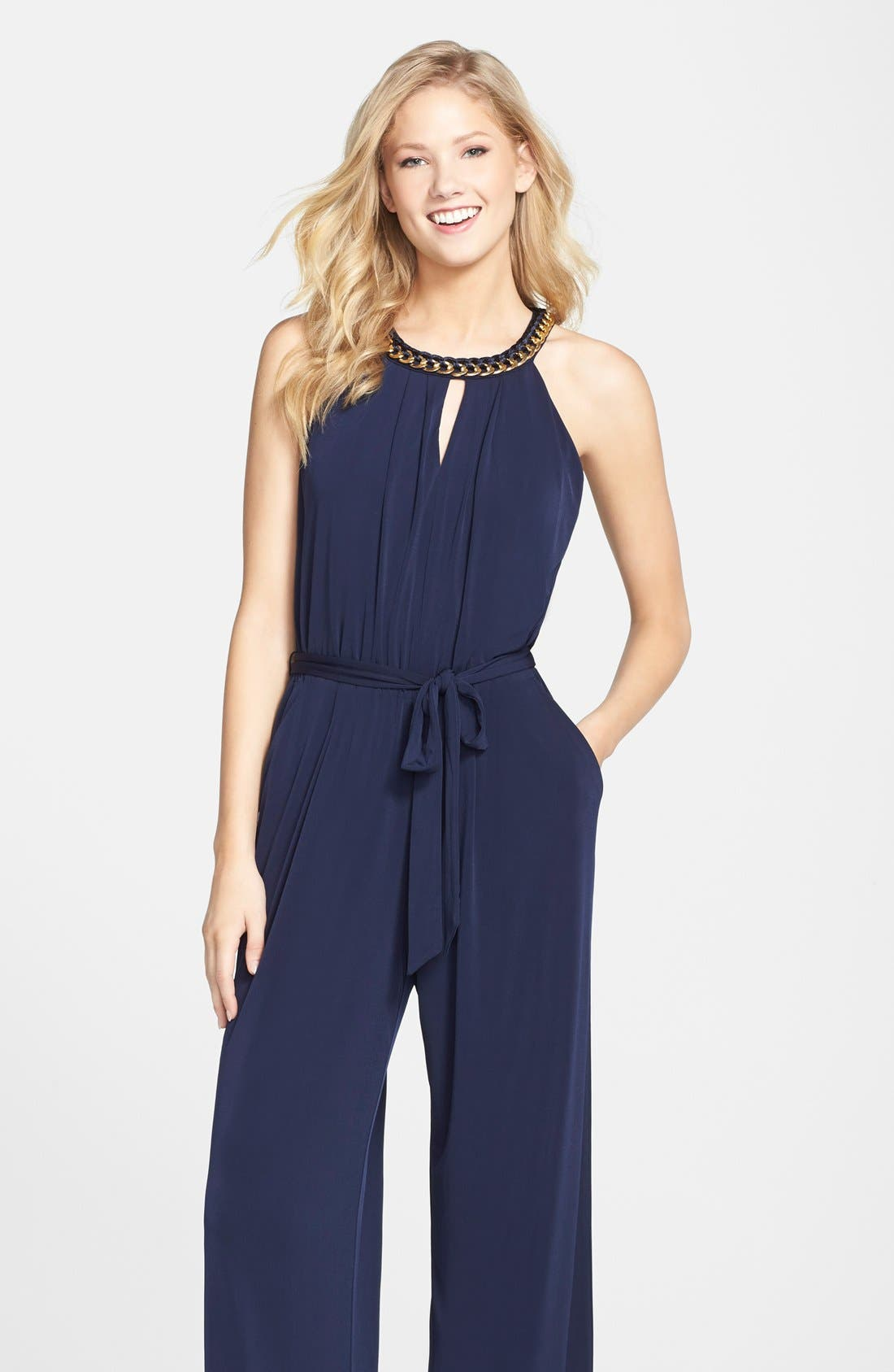 Alternate Image 4  - Vince Camuto Hardware Detail Jersey Jumpsuit