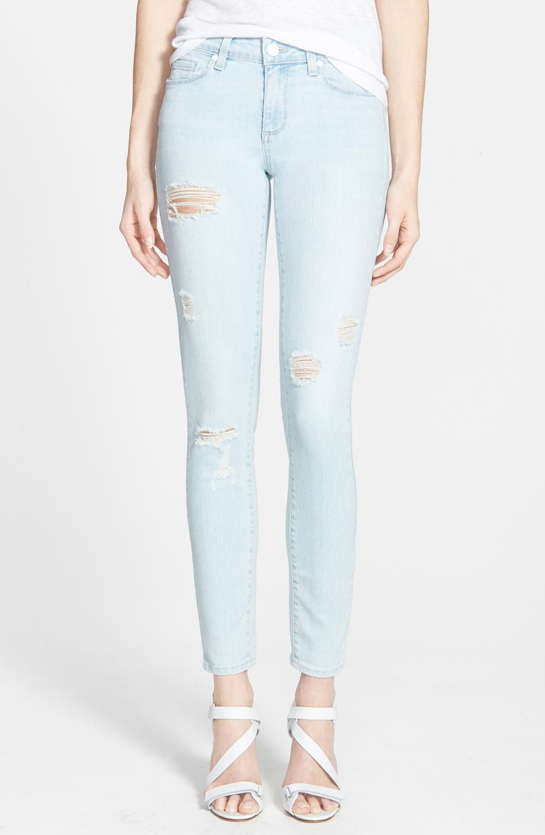 Alternate Image 1  - Paige Denim 'Verdugo' Ultra Skinny Jeans (Powell Destructed)