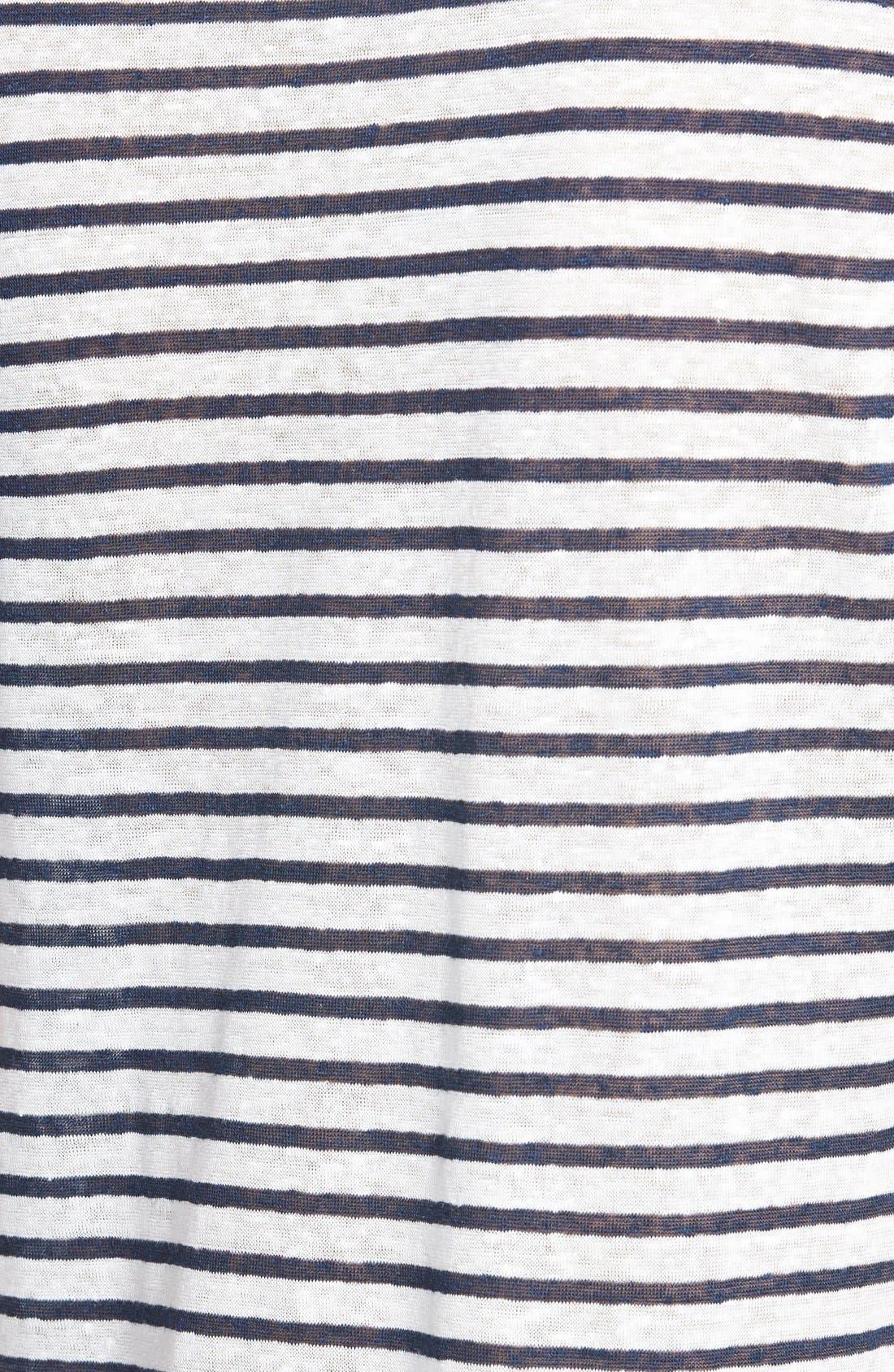Alternate Image 4  - PAIGE 'Lynnea' Stripe V-Neck Pocket Tee