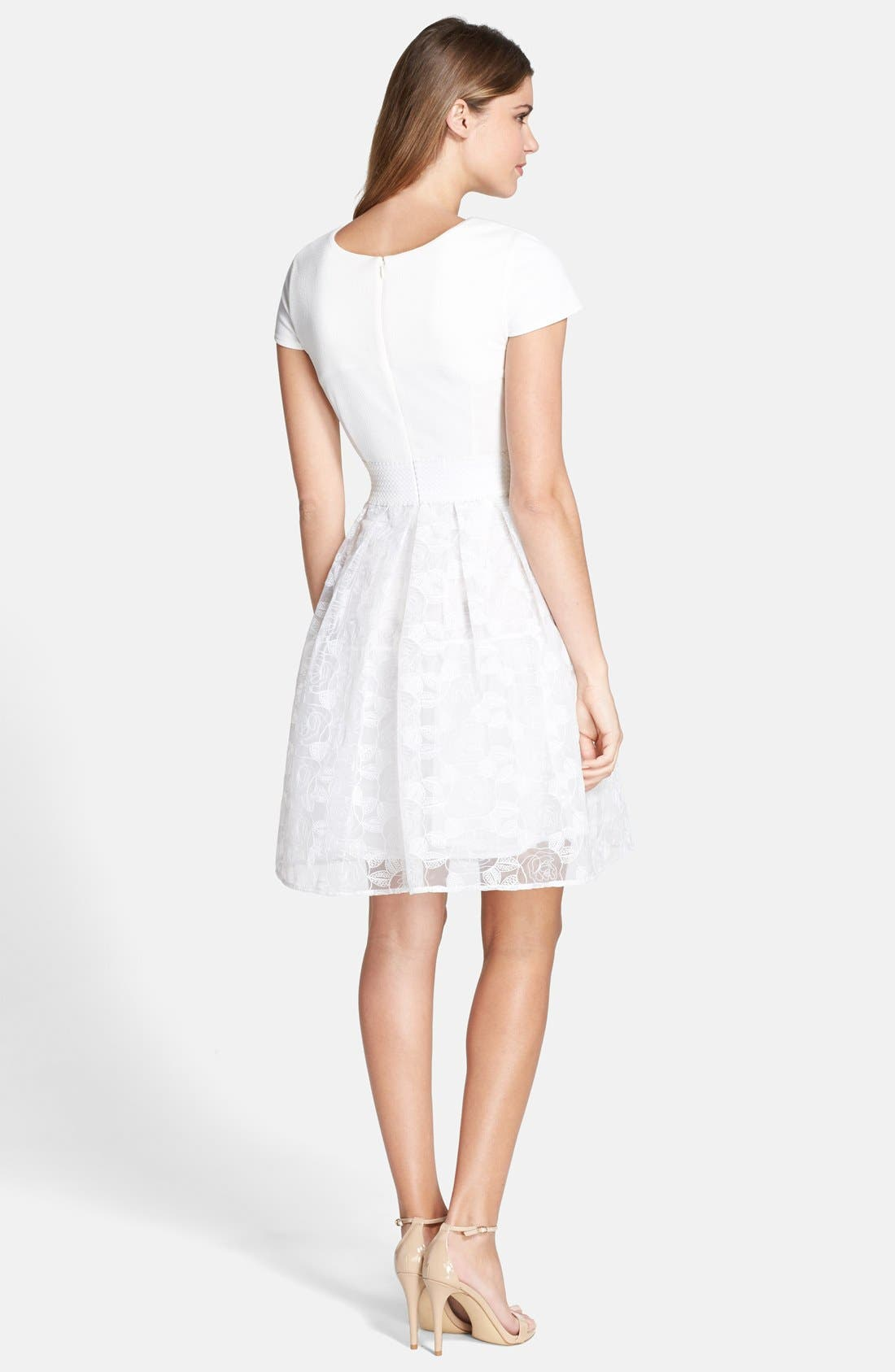 Alternate Image 2  - Plenty by Tracy Reese 'Zoe' Embroidered Mixed Media Fit & Flare Dress