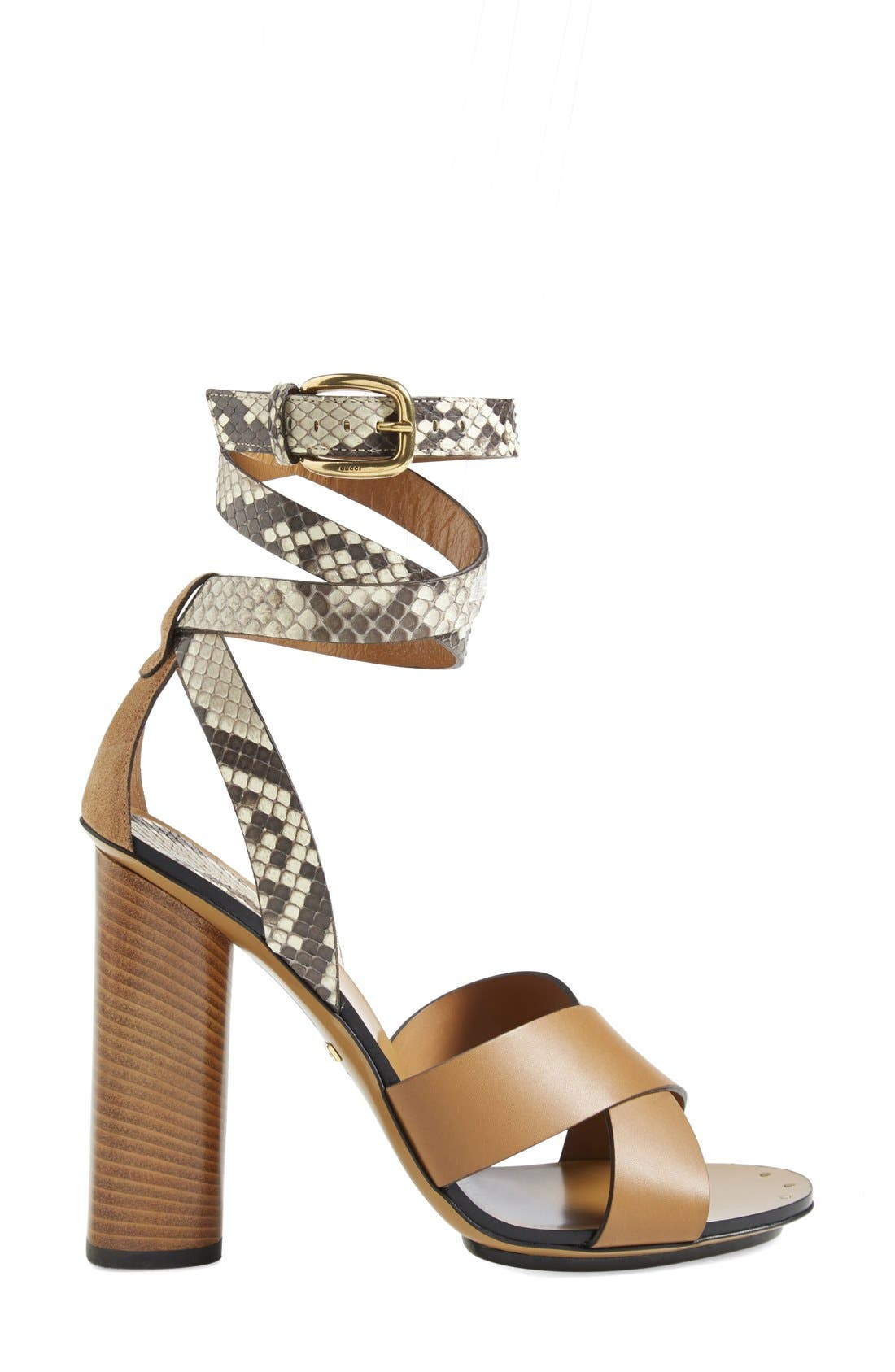 Alternate Image 4  - Gucci 'Candy' Genuine Python & Leather Sandal (Women)