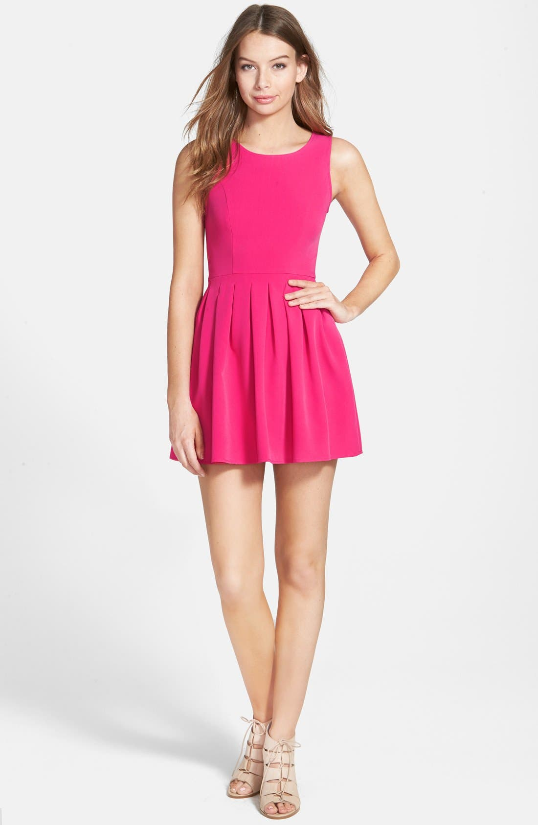 Alternate Image 1 Selected - Smai NYC Pleated Skater Dress
