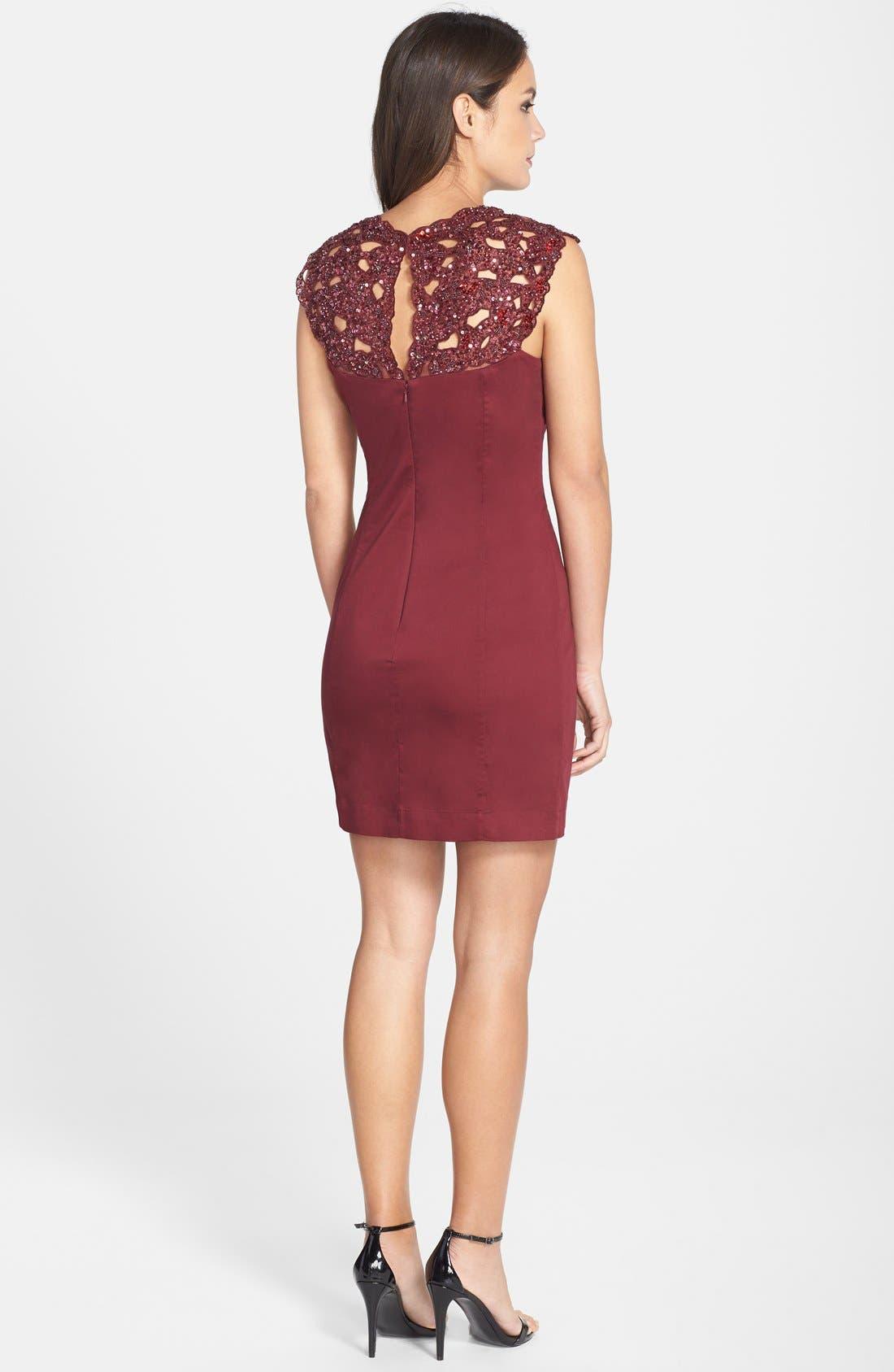 Alternate Image 2  - French Connection Embellished Lace Sheath Dress