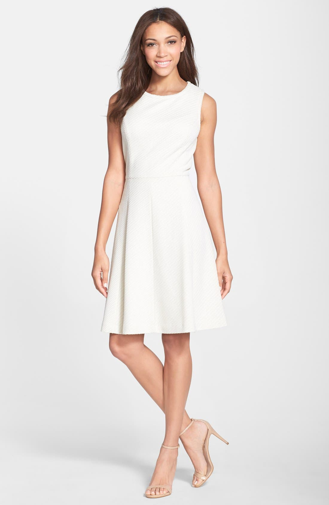 Alternate Image 3  - Maggy London Bonded Mesh Fit & Flare Dress