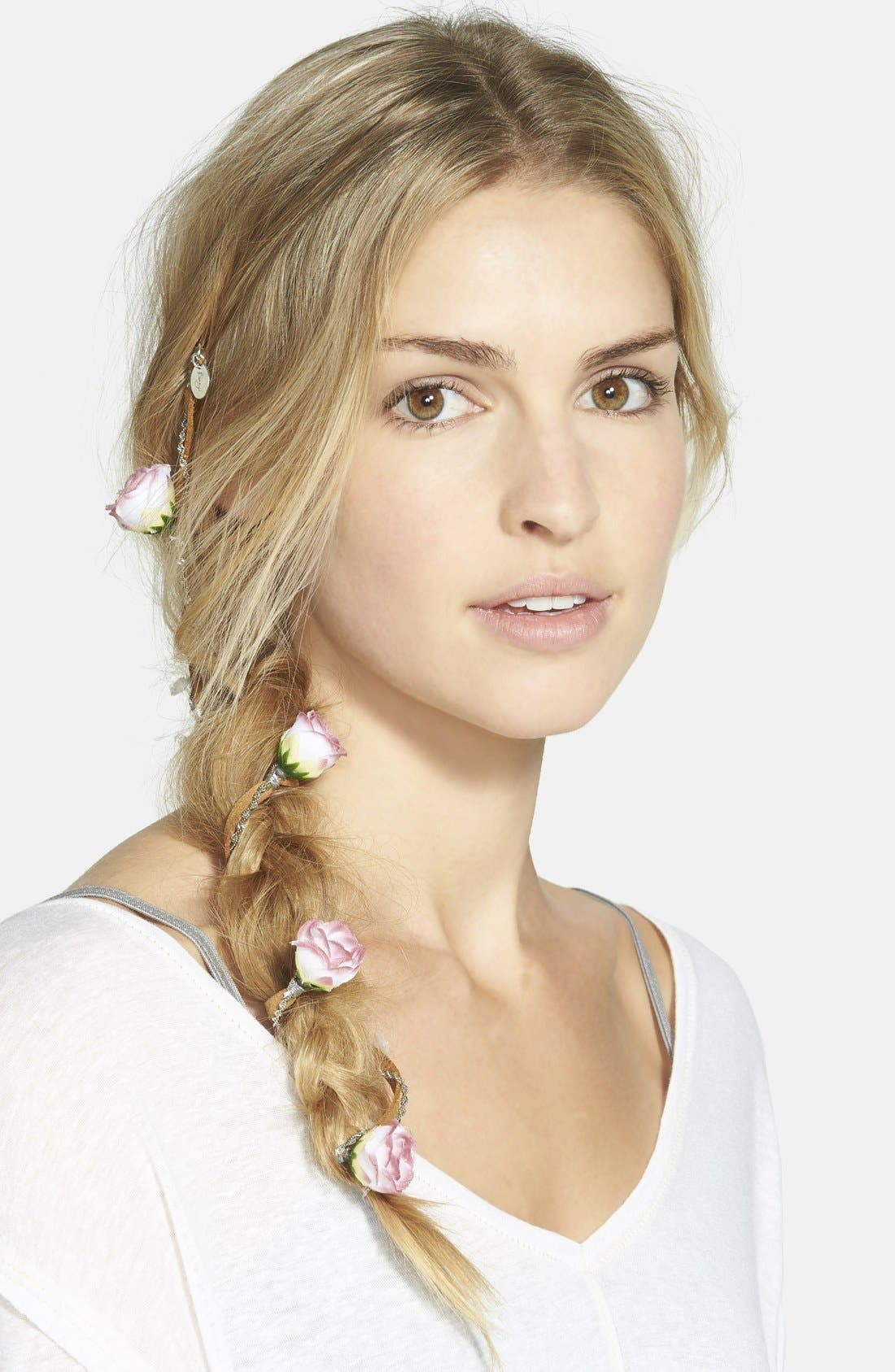 Alternate Image 1 Selected - Berry 'Rose Chain' Braid-In Hair Clip