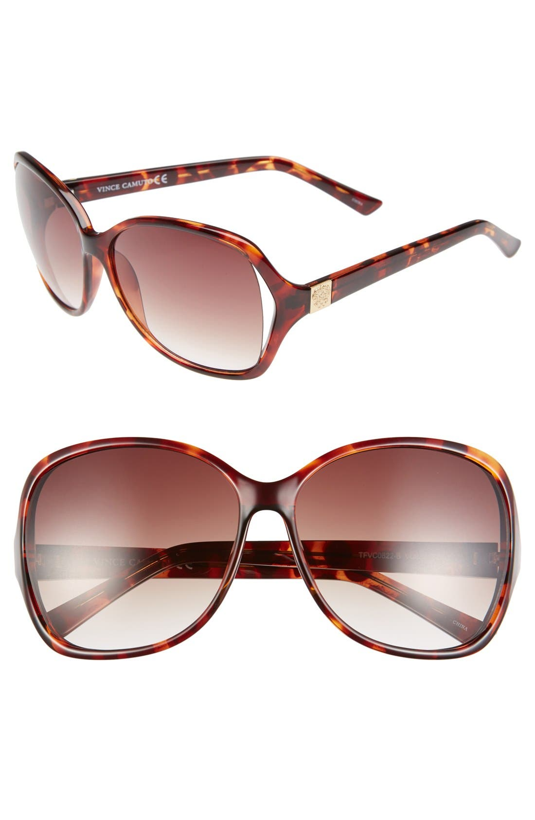 Main Image - Vince Camuto 62mm Vented Lens Rectangle Sunglasses