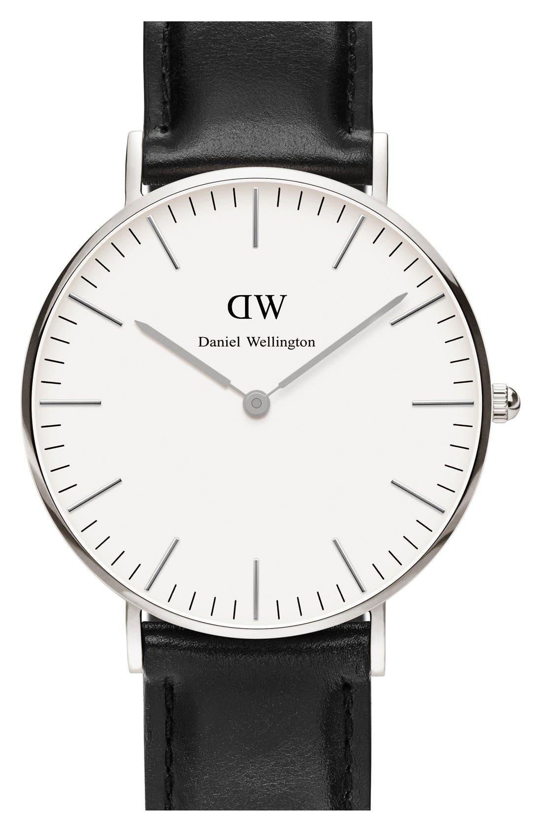 Main Image - Daniel Wellington 'Classic Sheffield' Leather Strap Watch, 36mm