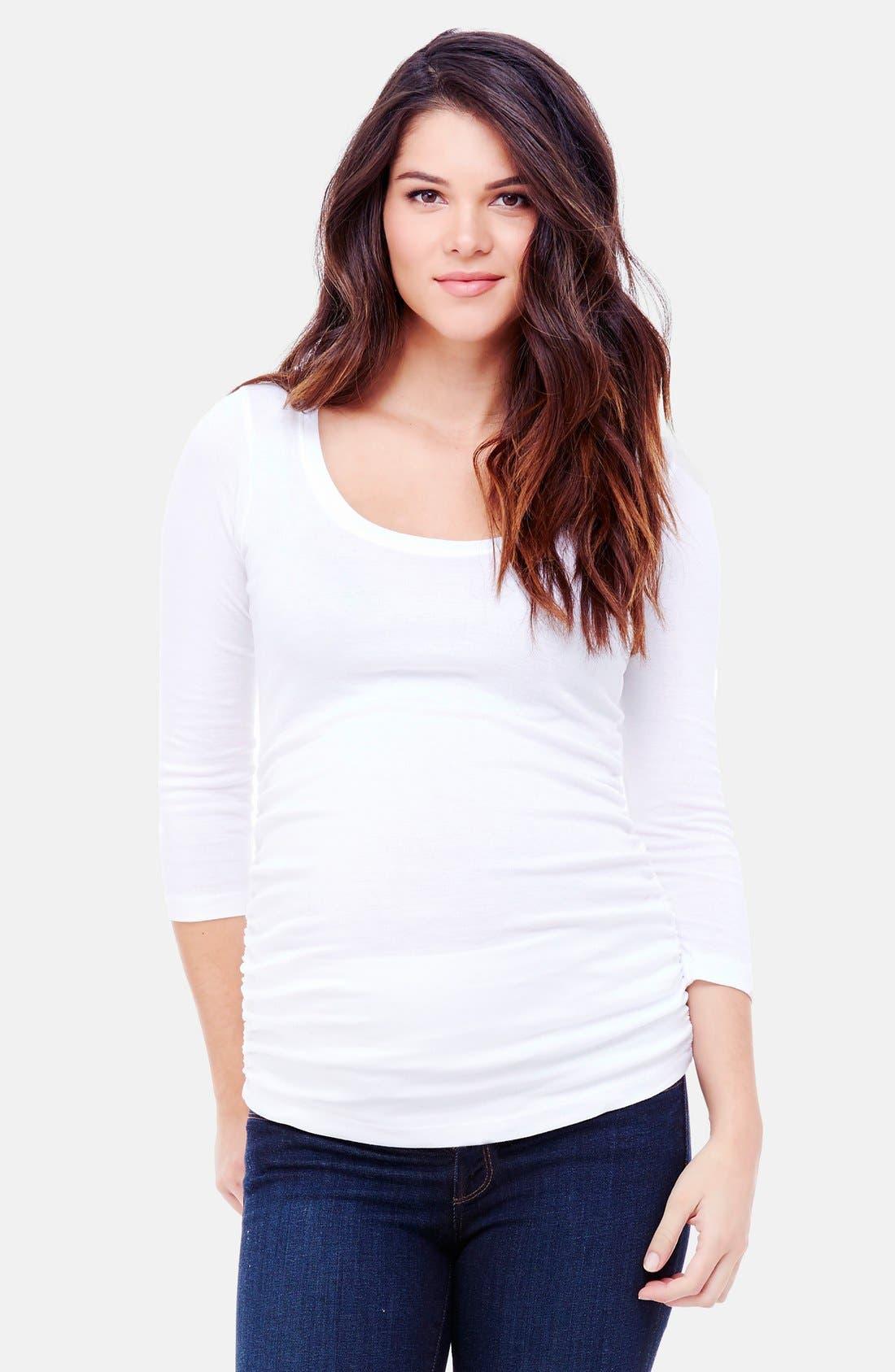 Ingrid & Isabel® Ruched Maternity Top