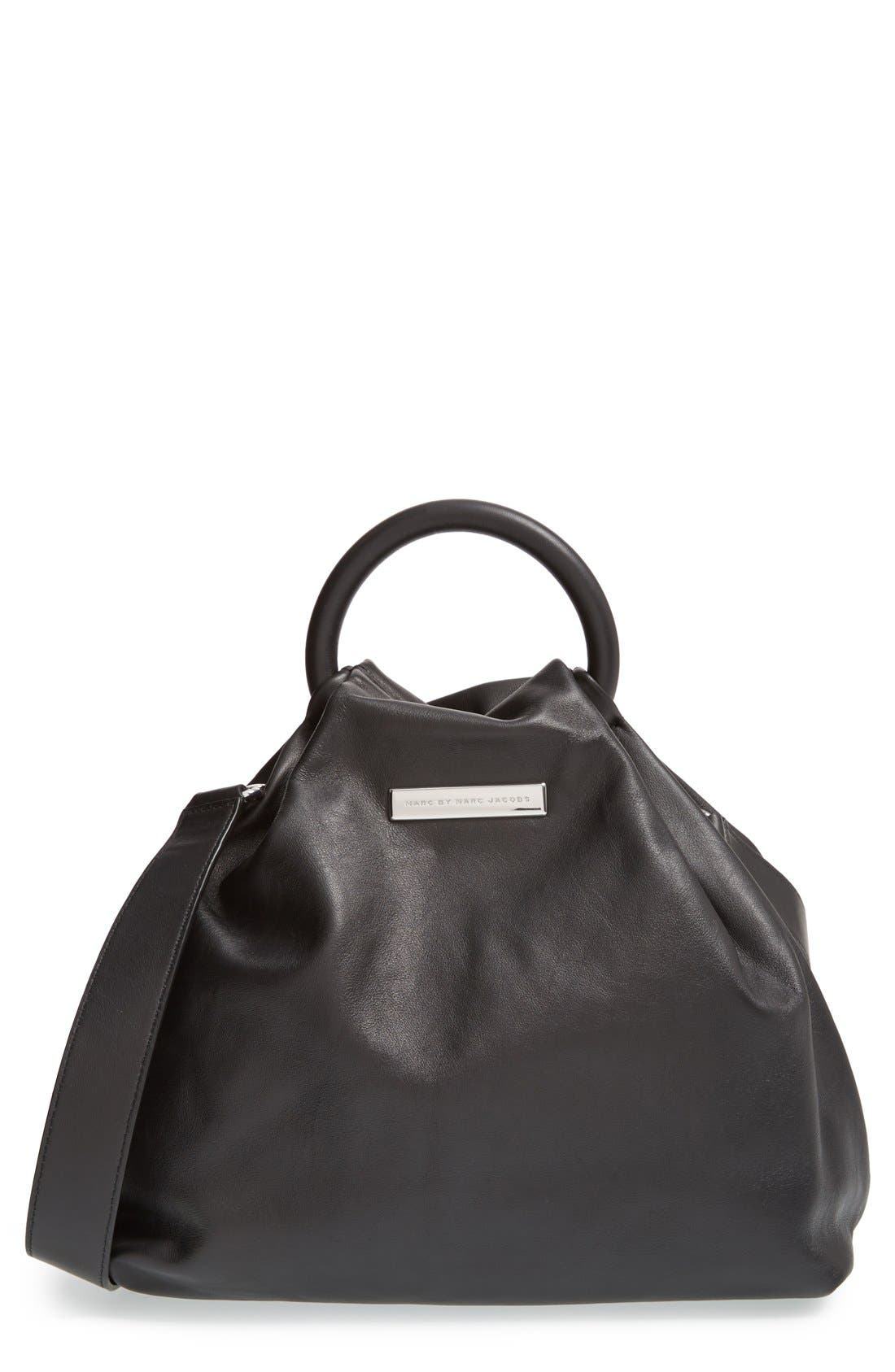 Alternate Image 1 Selected - MARC BY MARC JACOBS 'Hanging Around' Leather Ring Tote