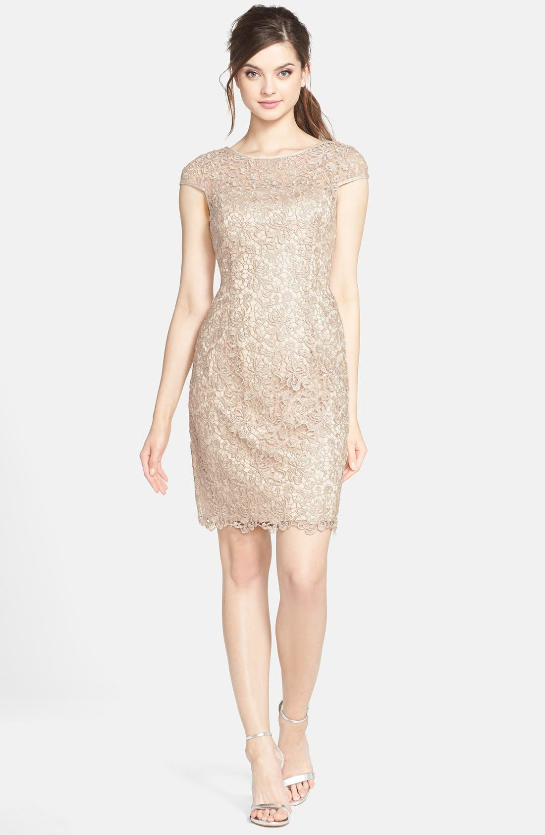 Alternate Image 3  - Adrianna Papell Lace Shift Dress