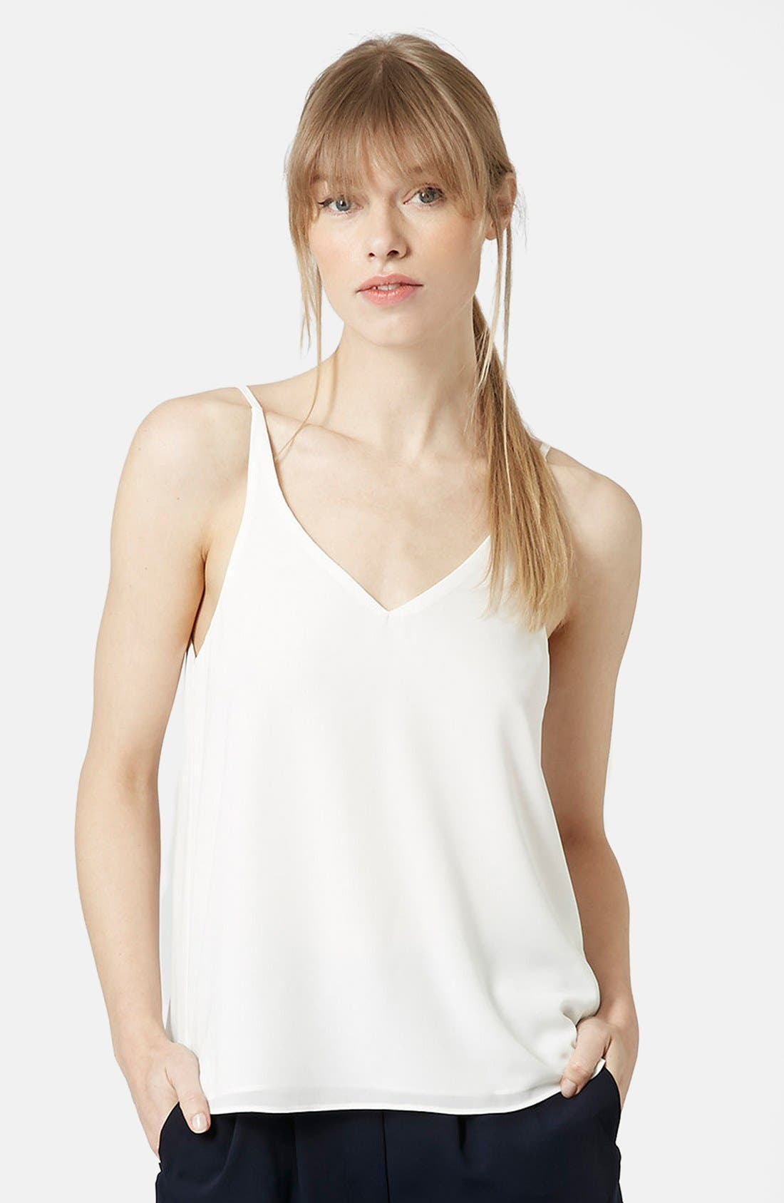 Main Image - Topshop Strappy V-Neck Camisole (Regular & Petite)