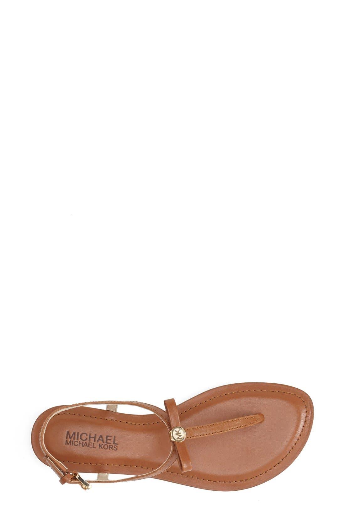 Alternate Image 4  - MICHAEL Michael Kors 'Josie' T-Strap Leather Sandal (Women)