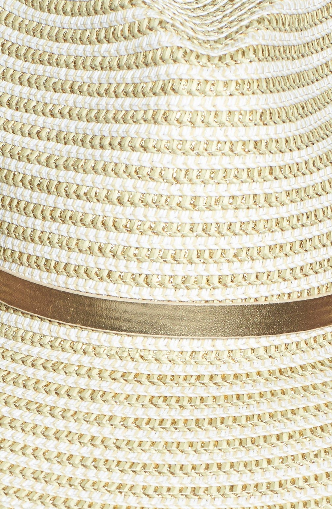 Alternate Image 2  - August Hat Metallic Trim Hat