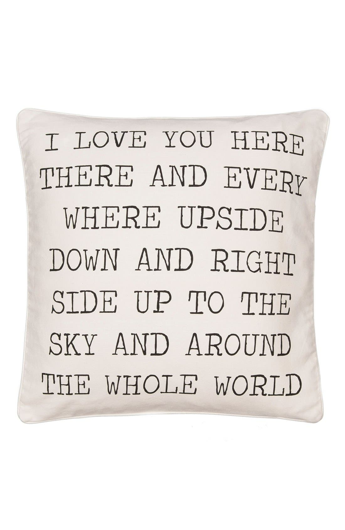 Alternate Image 1 Selected - Levtex 'Love You Here' Accent Pillow