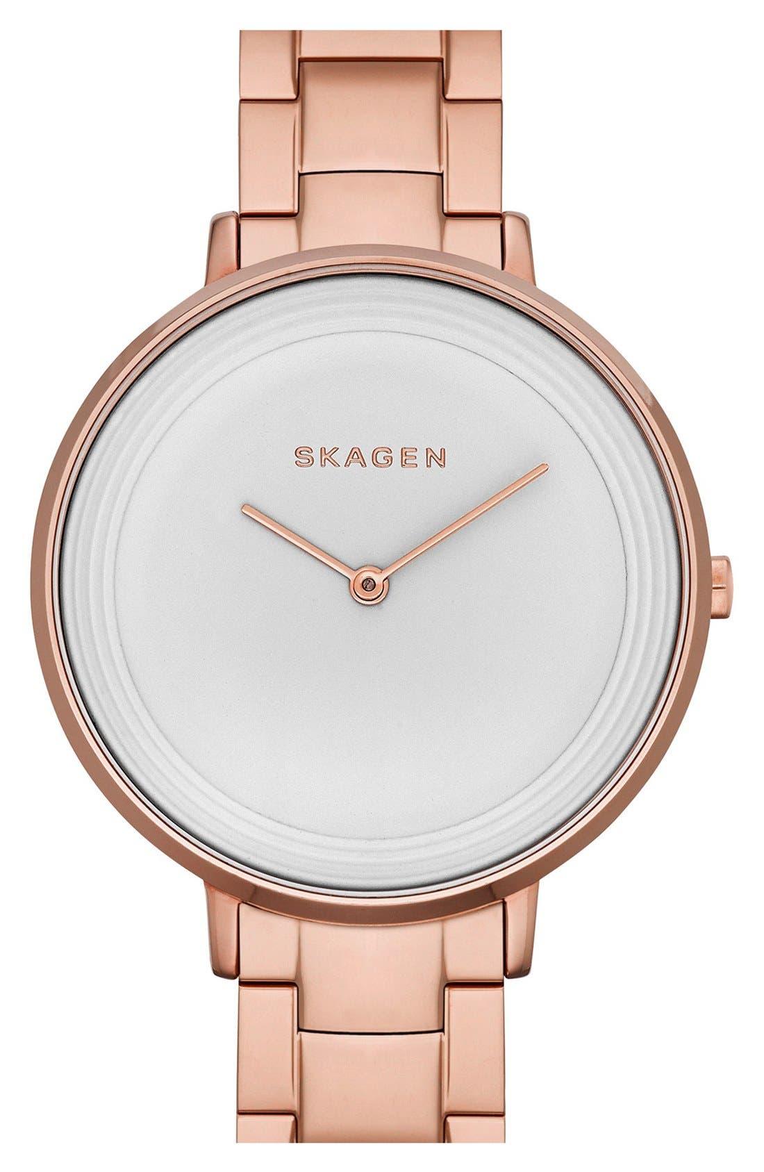 Alternate Image 1 Selected - Skagen 'Ditte' Round Bracelet Watch, 37mm