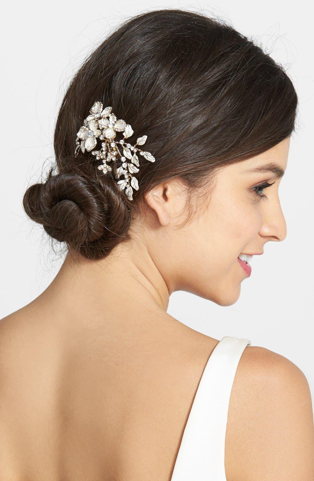 Main Image - Wedding Belles New York Crystal Floral Hair Comb
